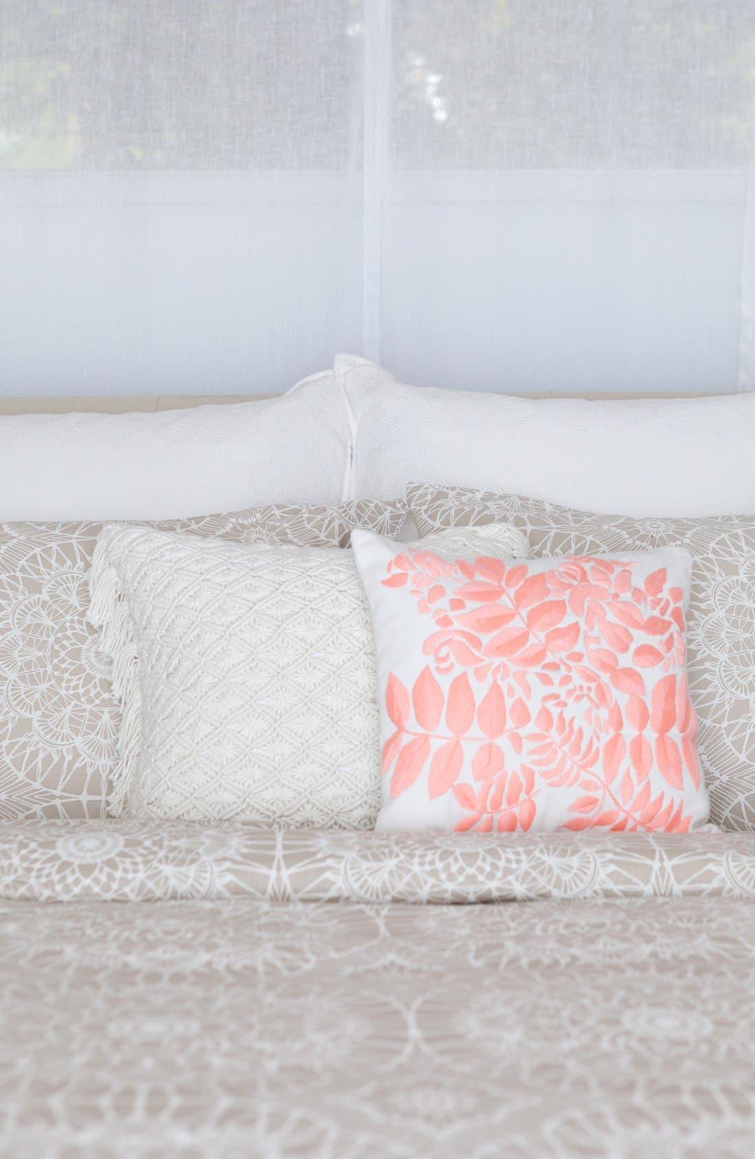 'Lace Medallion' Crochet Pillow,                             Alternate thumbnail 2, color,