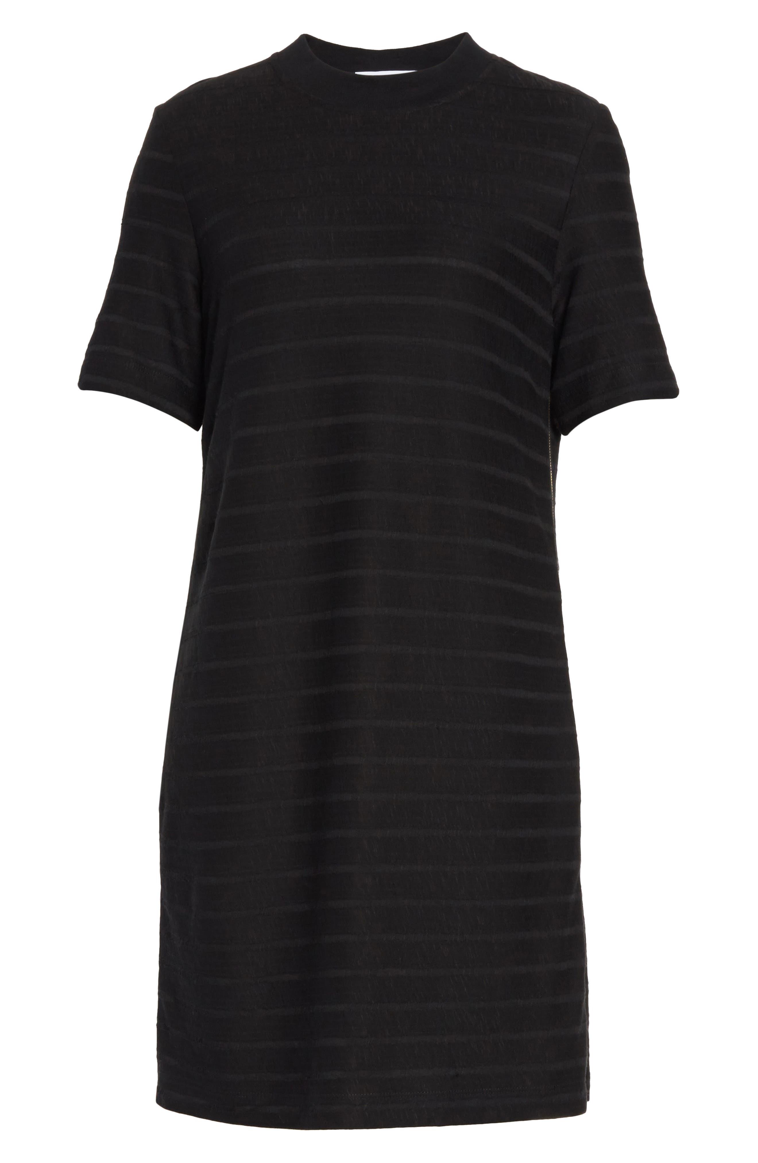 T-Shirt Dress,                             Alternate thumbnail 6, color,                             001