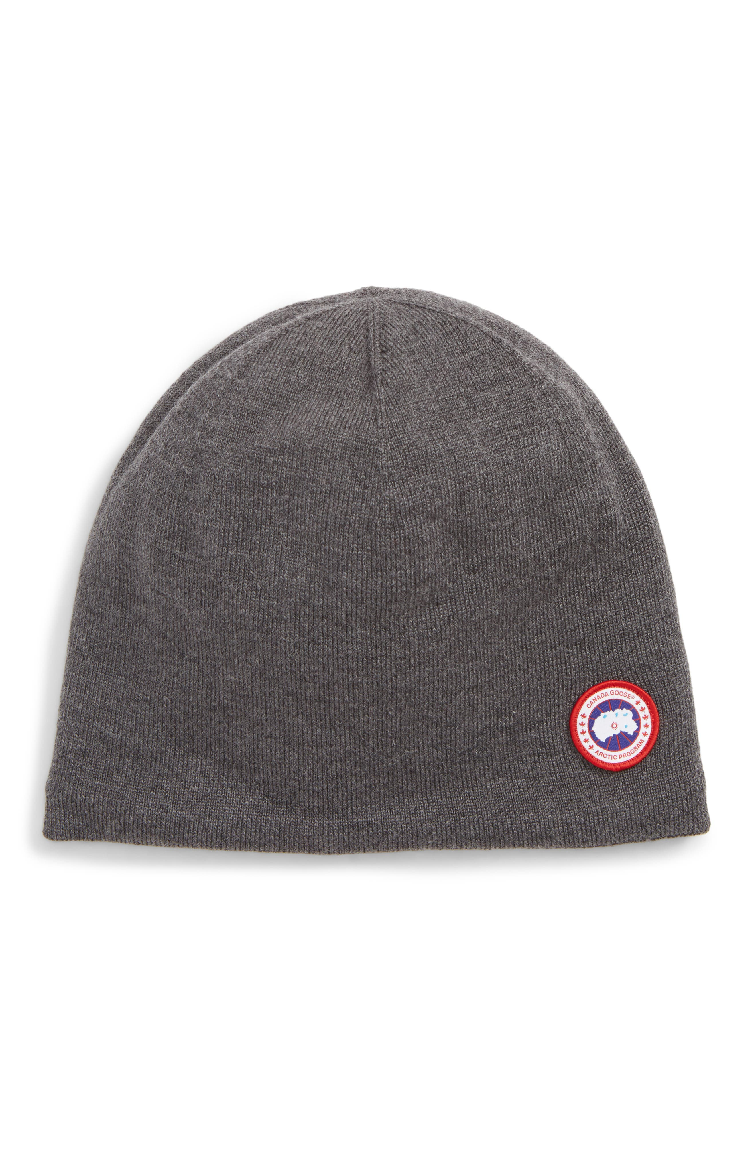 Men'S Standard Logo Toque Winter Beanie Hat in Iron Grey