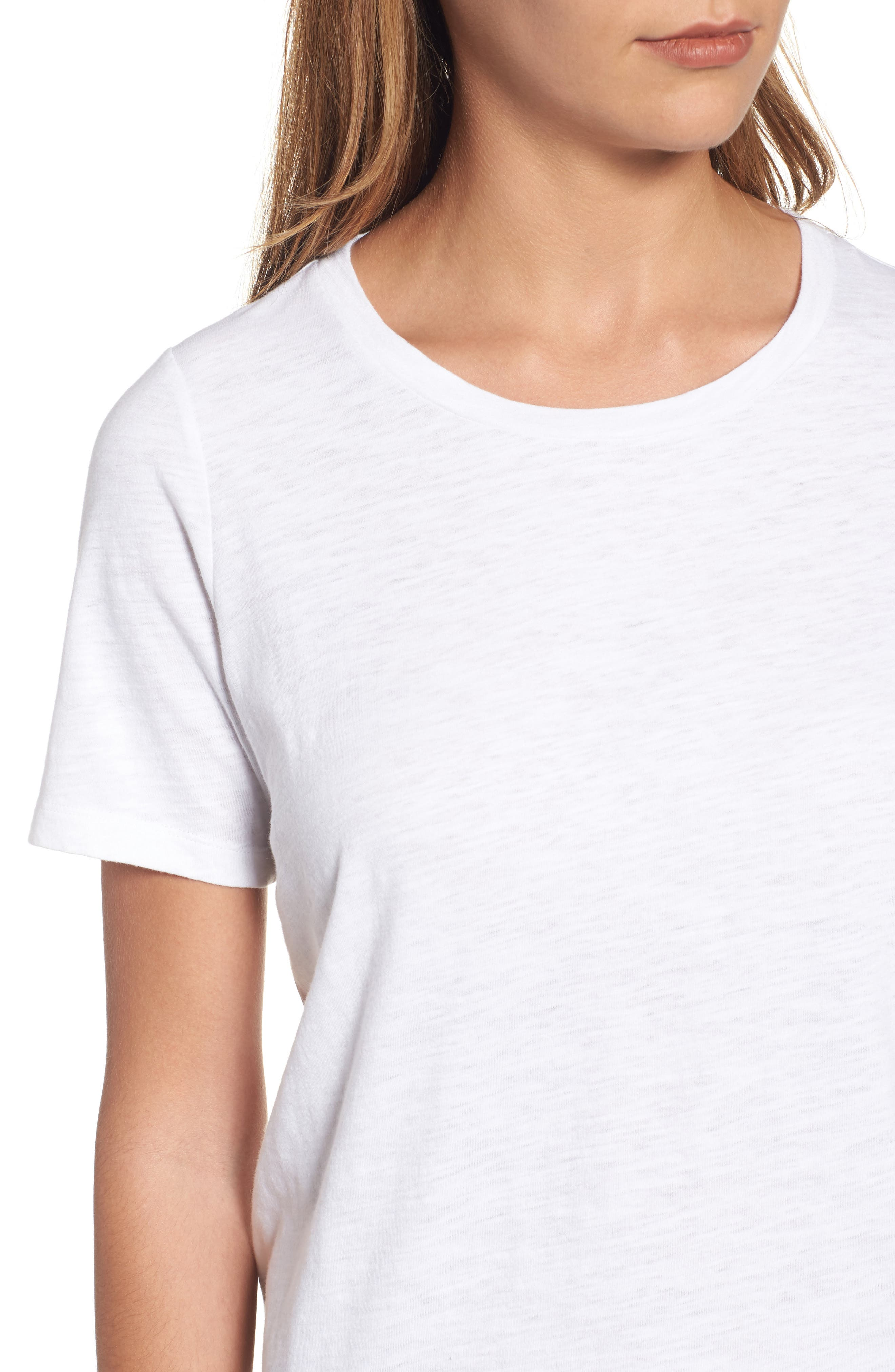 Organic Cotton Tee,                             Alternate thumbnail 4, color,                             100