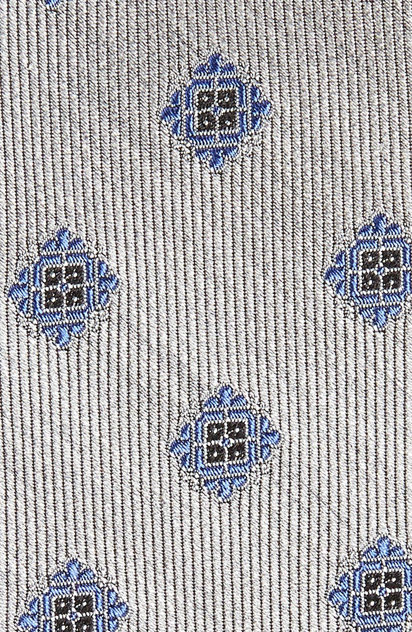Medallion Silk Tie,                             Alternate thumbnail 4, color,