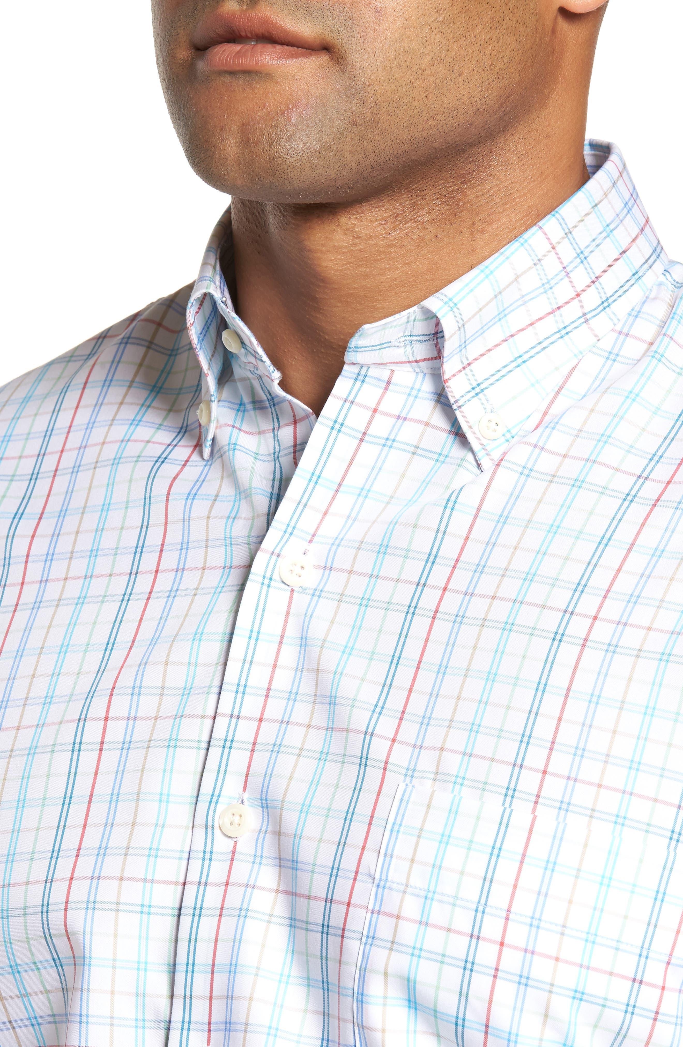Classic Fit Crown Soft Honolulu Pinwheel Sport Shirt,                             Alternate thumbnail 4, color,                             497