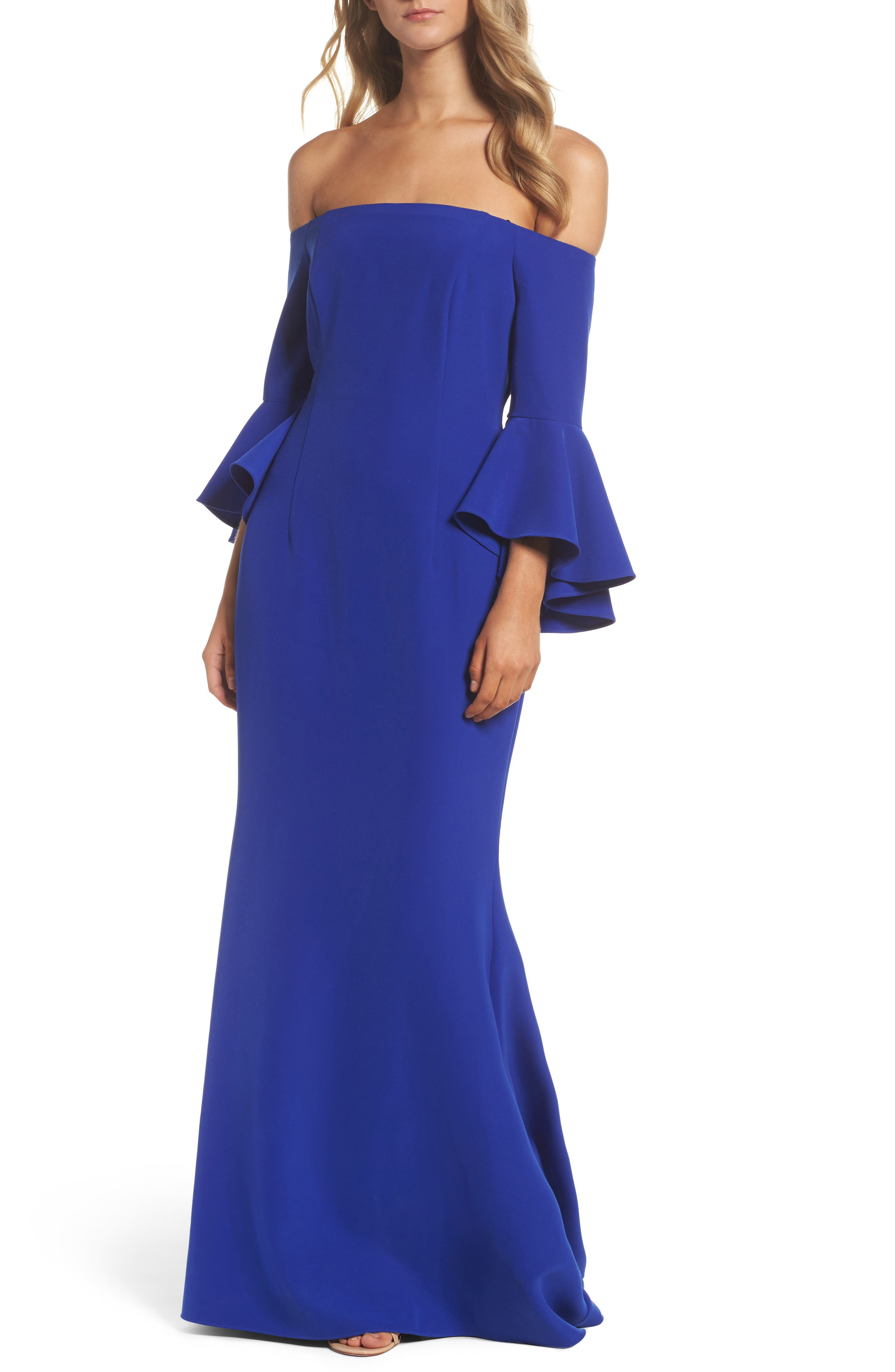 Off The Shoulder Gown,                             Main thumbnail 4, color,