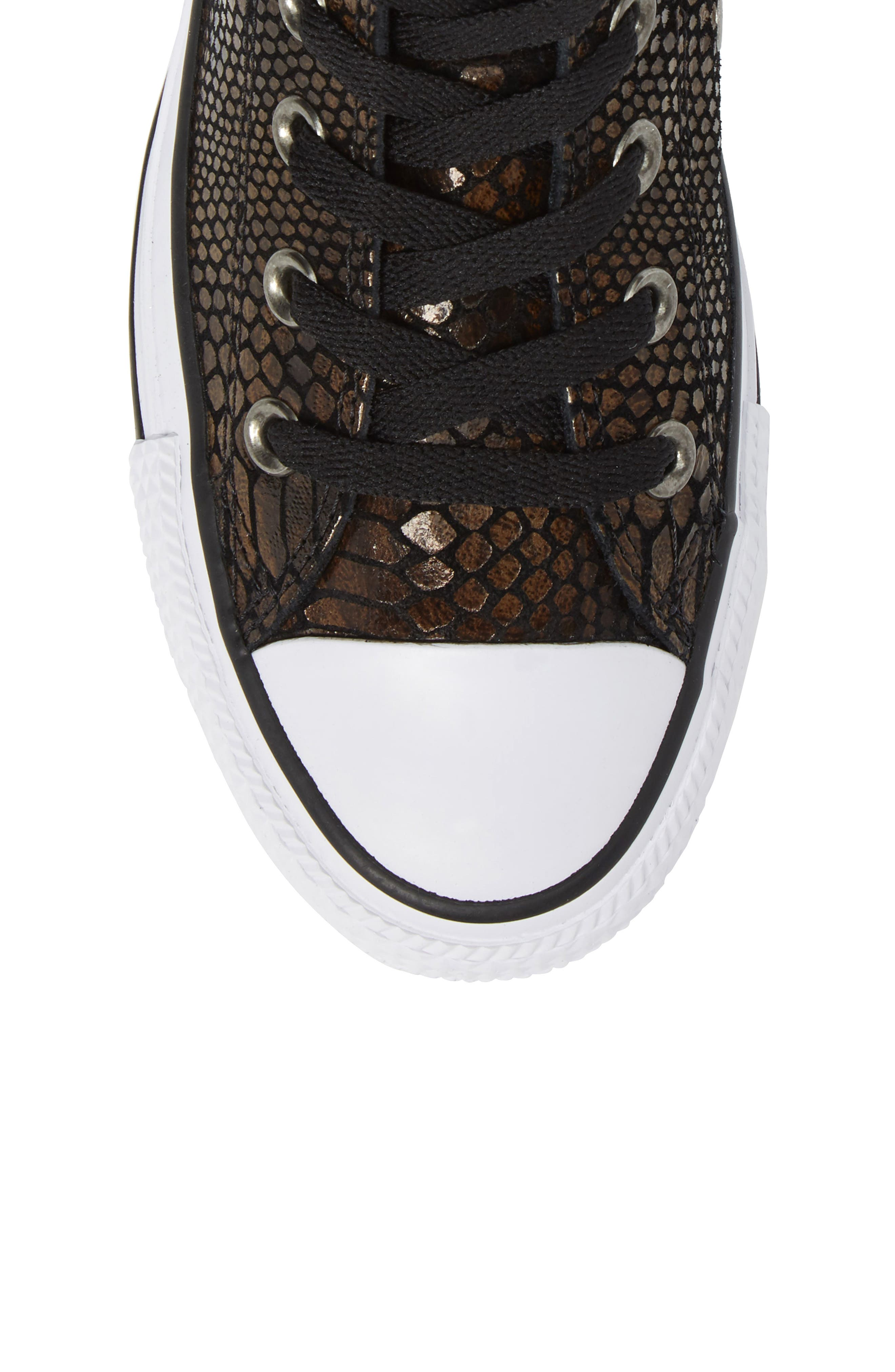 Chuck Taylor<sup>®</sup> All Star<sup>®</sup> Snake Embossed High Top Sneaker,                             Alternate thumbnail 5, color,                             200