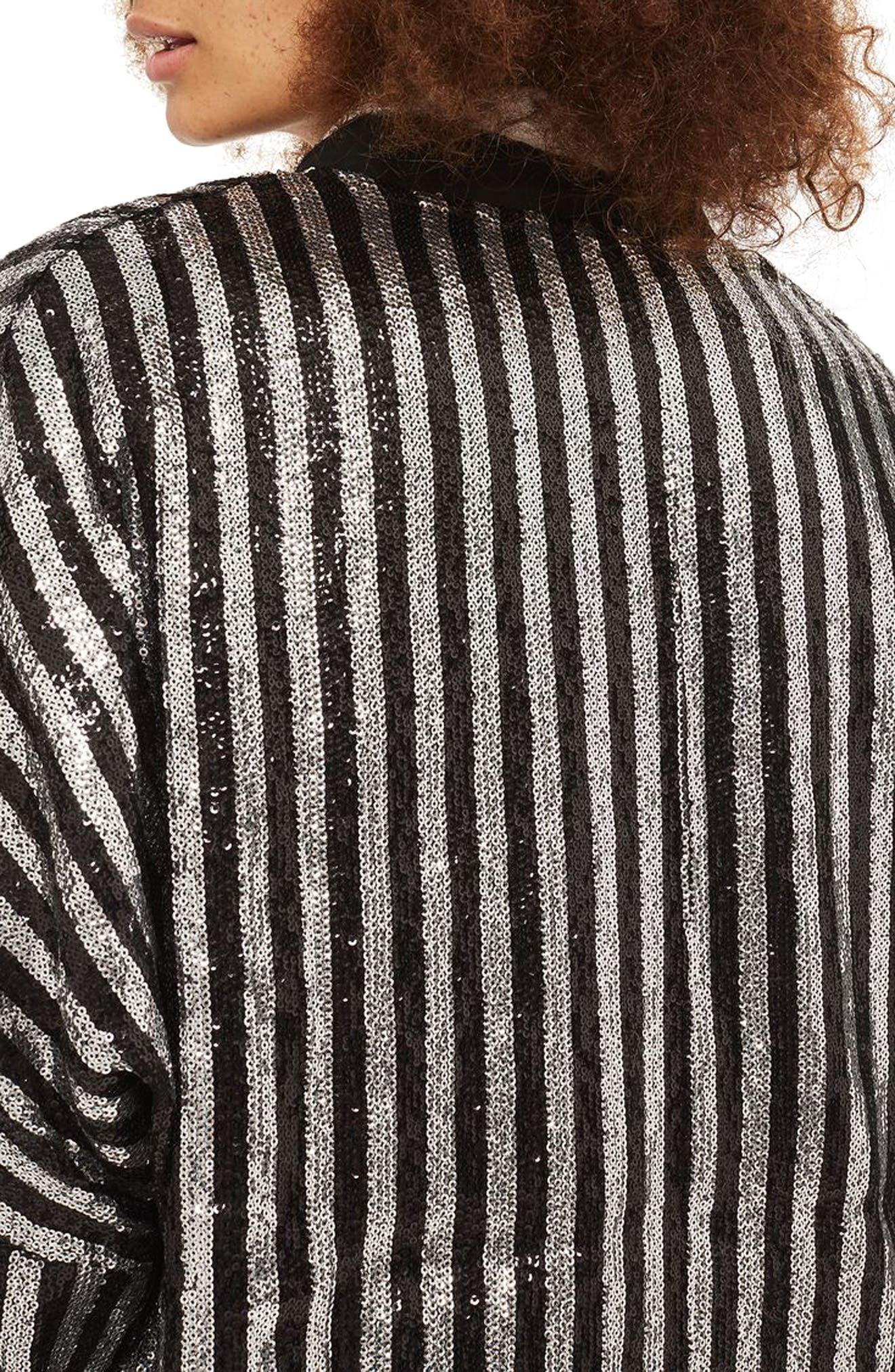 Batwing Sequin Stripe Jacket,                             Alternate thumbnail 2, color,