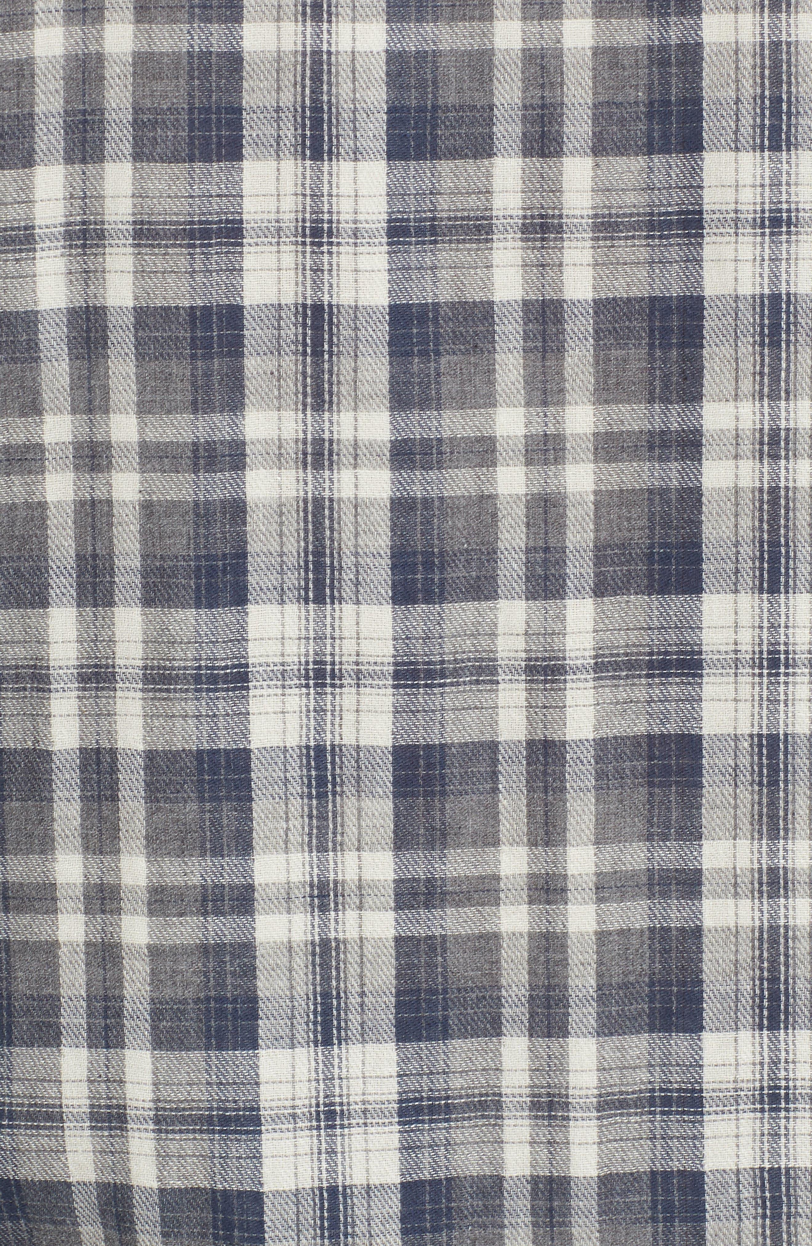 Saratoga Modern Fit Plaid Double Cloth Sport Shirt,                             Alternate thumbnail 5, color,                             060