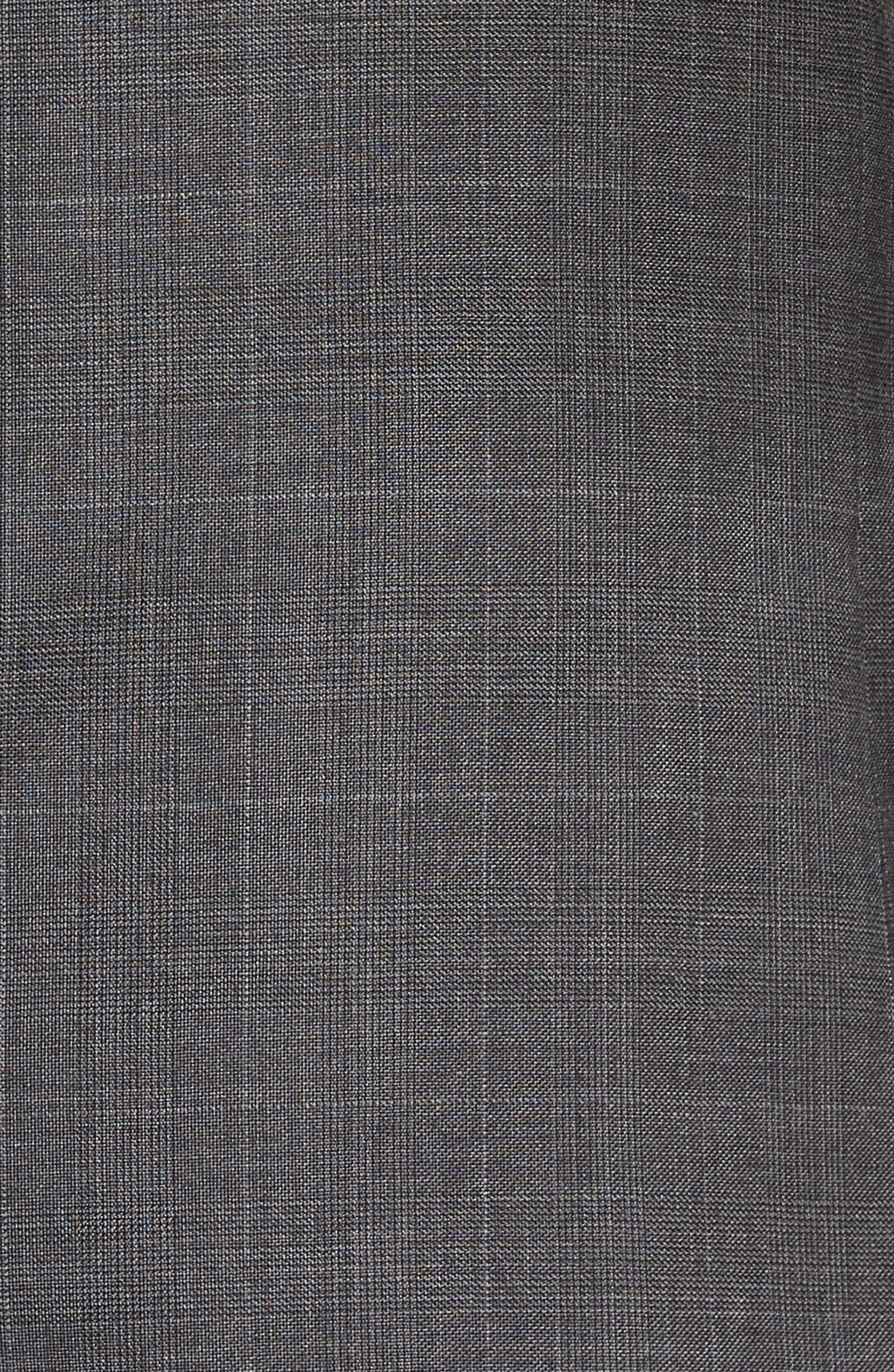 Extra Trim Fit Plaid Wool Suit,                             Alternate thumbnail 7, color,                             030