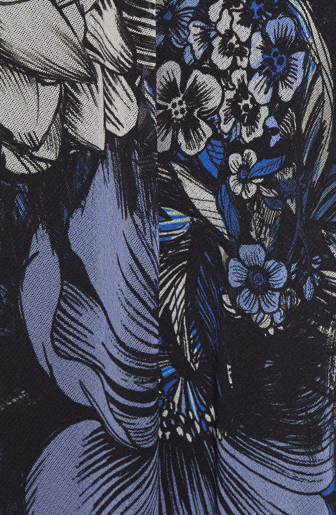 Print Tulle Handkerchief Hem Dress,                             Alternate thumbnail 5, color,                             420