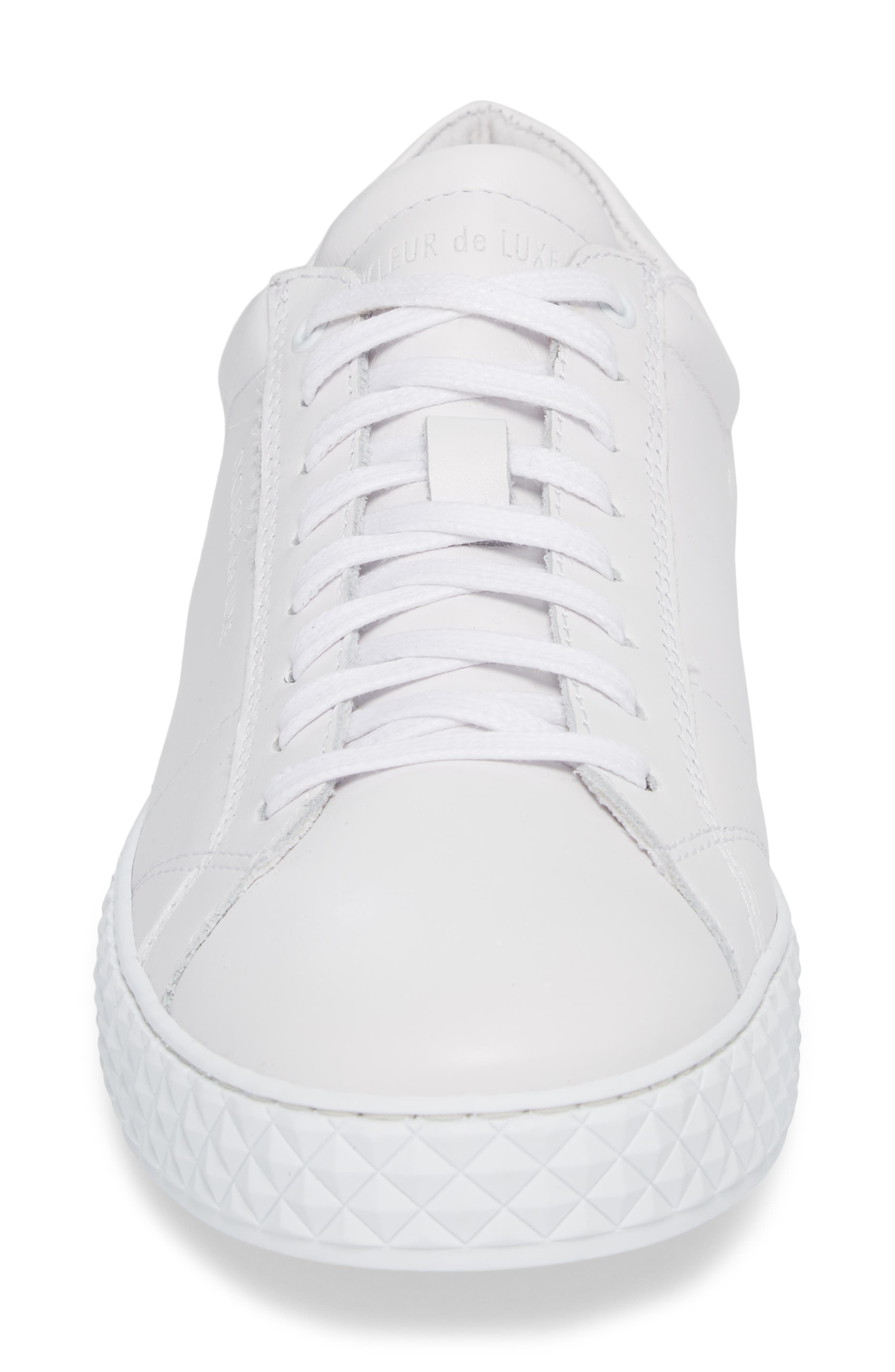 Bratislava Low Top Sneaker,                             Alternate thumbnail 4, color,                             OPTIC WHITE/ RED/ NAVY LEATHER