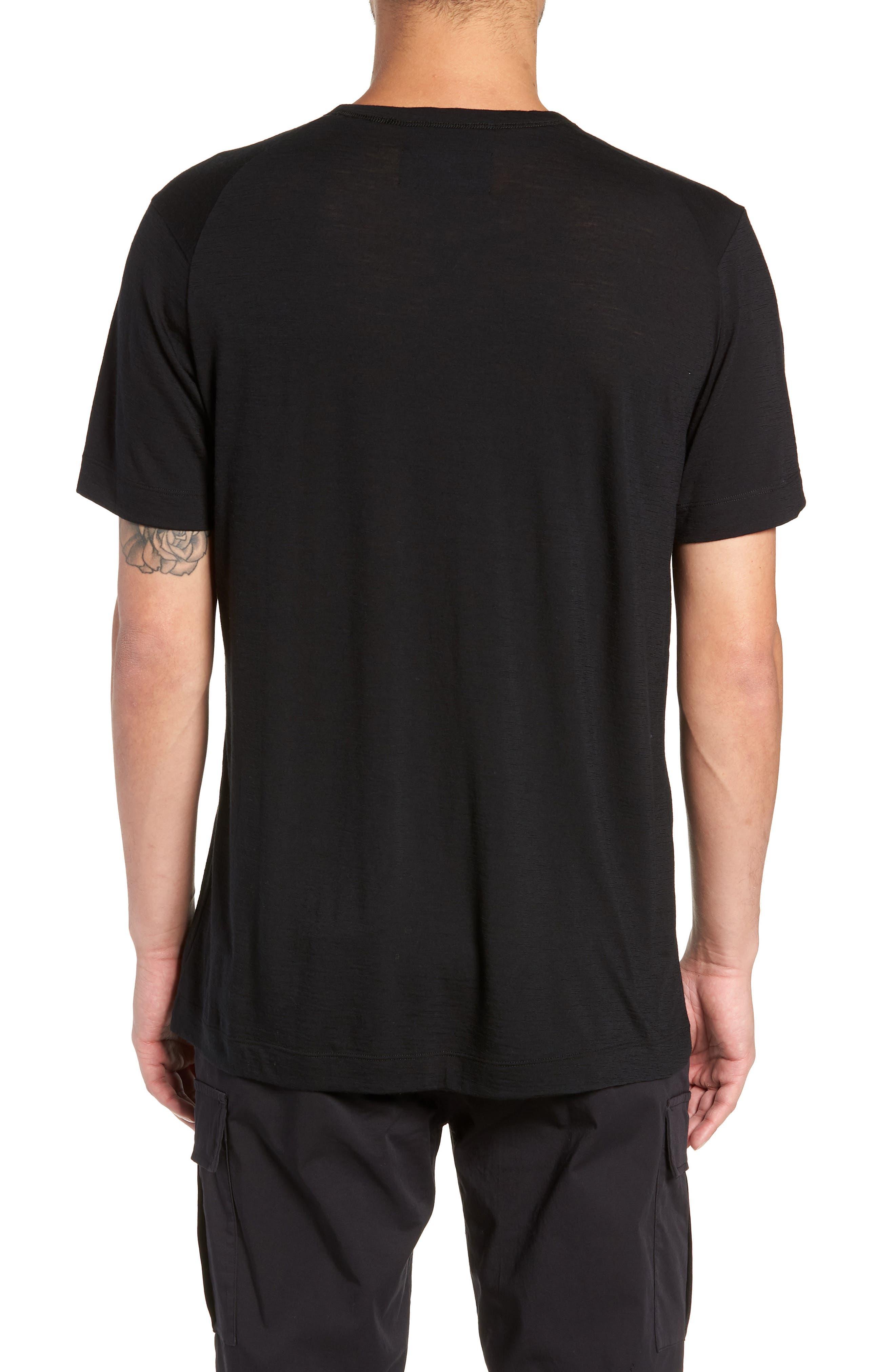 Swedish Merino Wool T-Shirt,                             Alternate thumbnail 2, color,                             BLACK