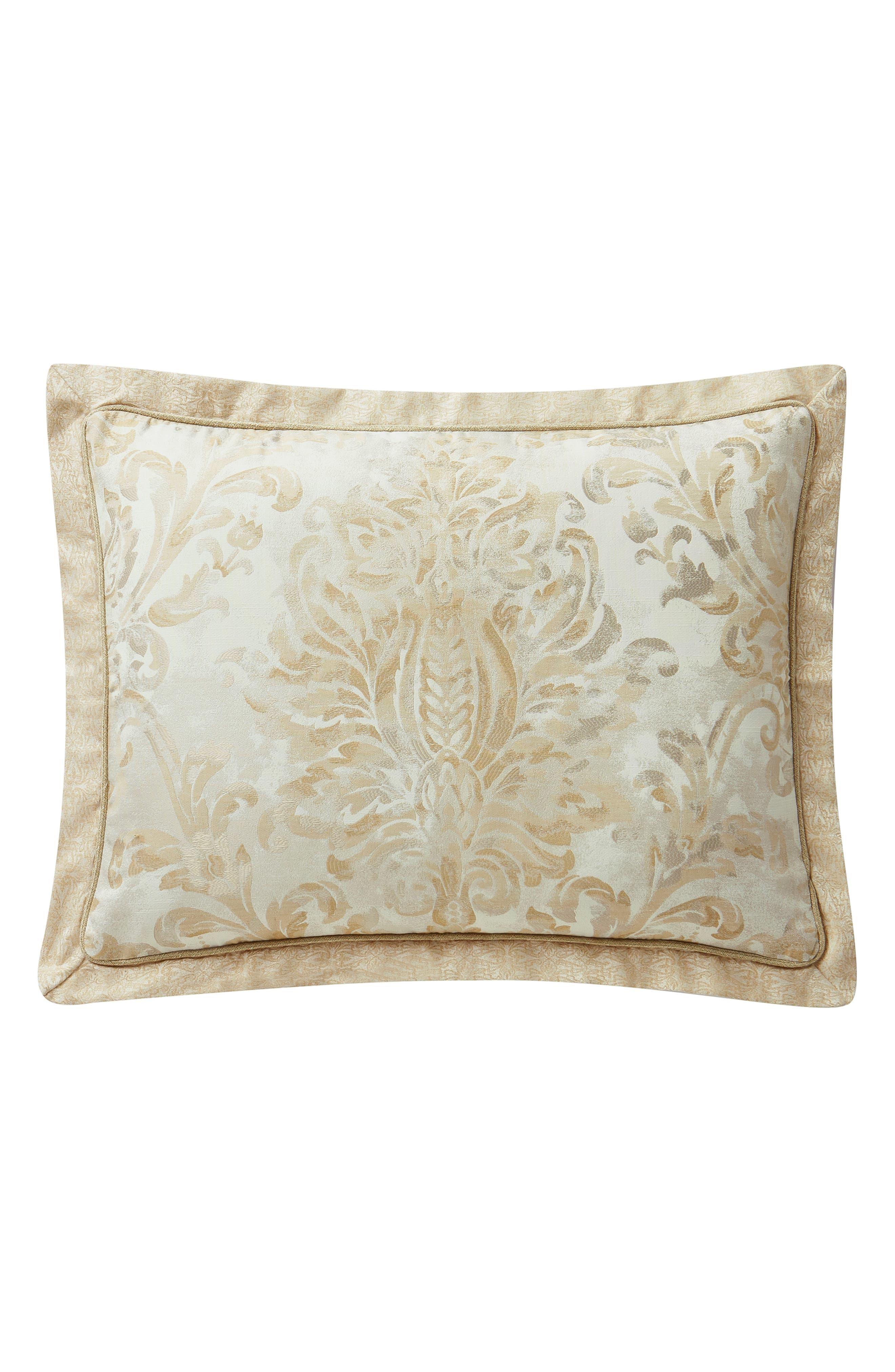 Annalise Reversible Comforter, Sham & Bed Skirt Set,                             Alternate thumbnail 4, color,                             GOLD