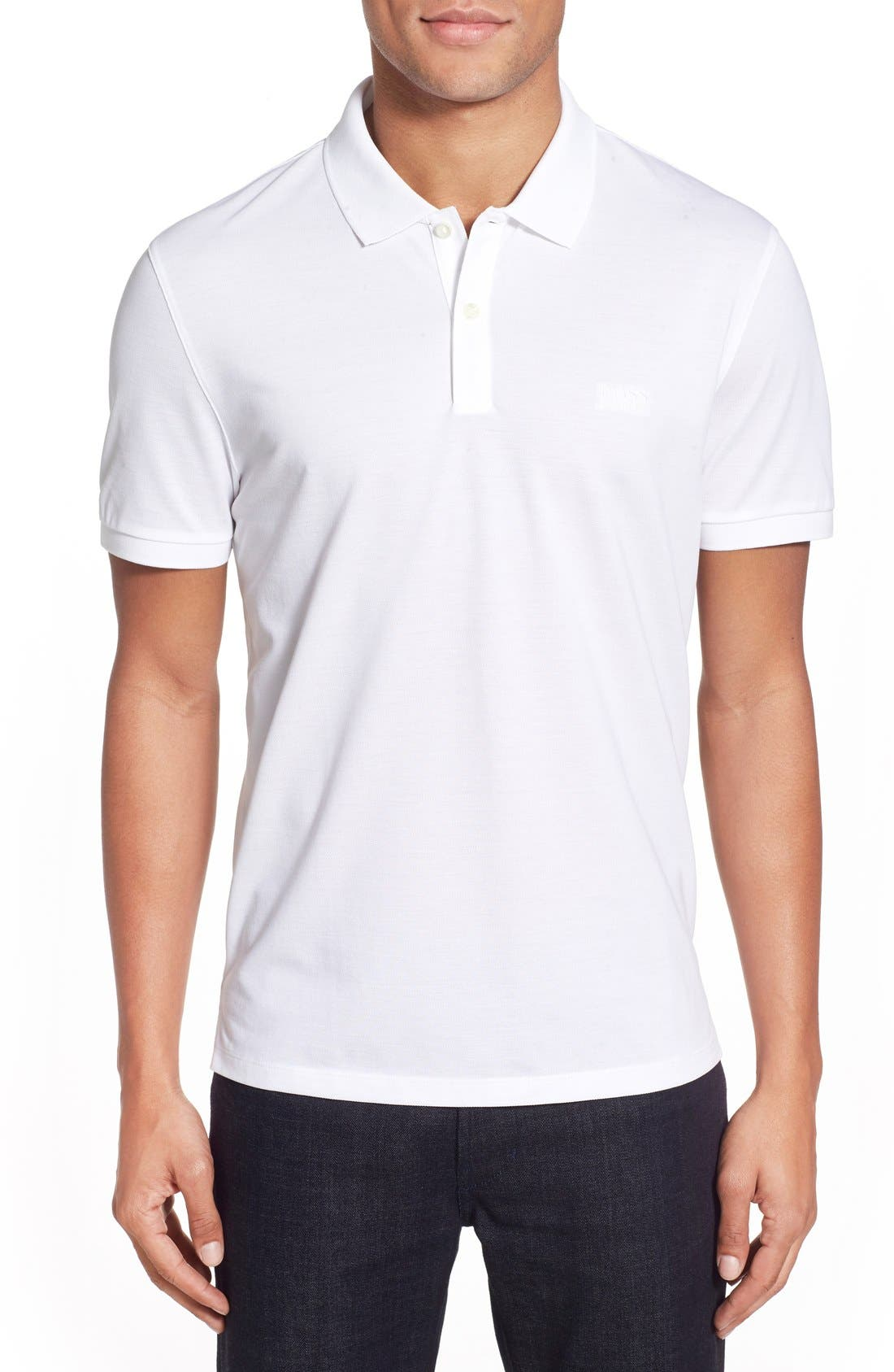 'Pallas' Regular Fit Logo Embroidered Polo Shirt,                             Main thumbnail 6, color,