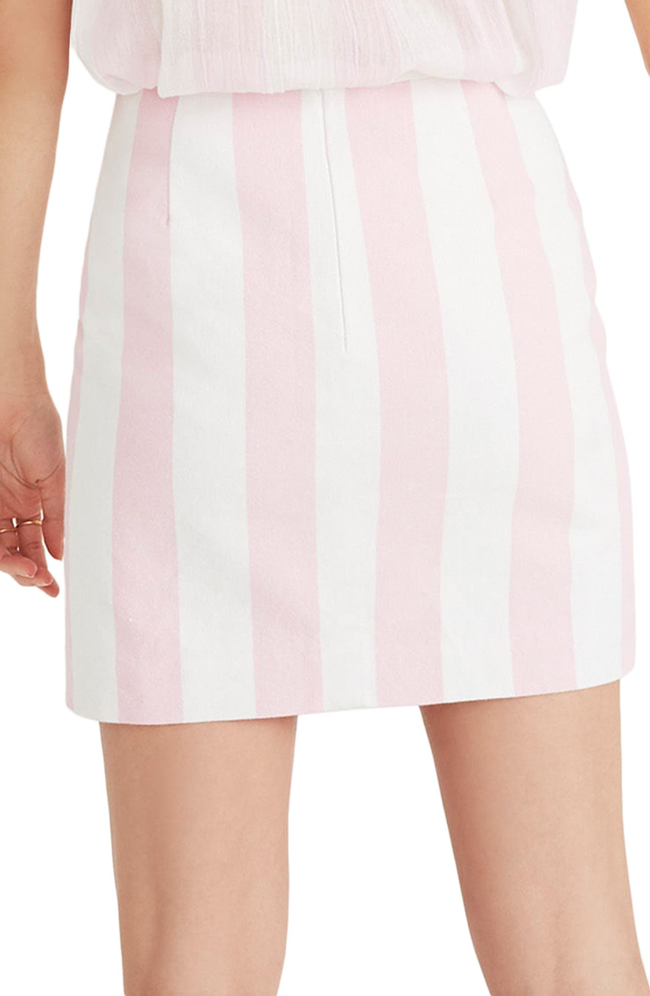 Gamine Stripe Miniskirt,                             Alternate thumbnail 2, color,                             650