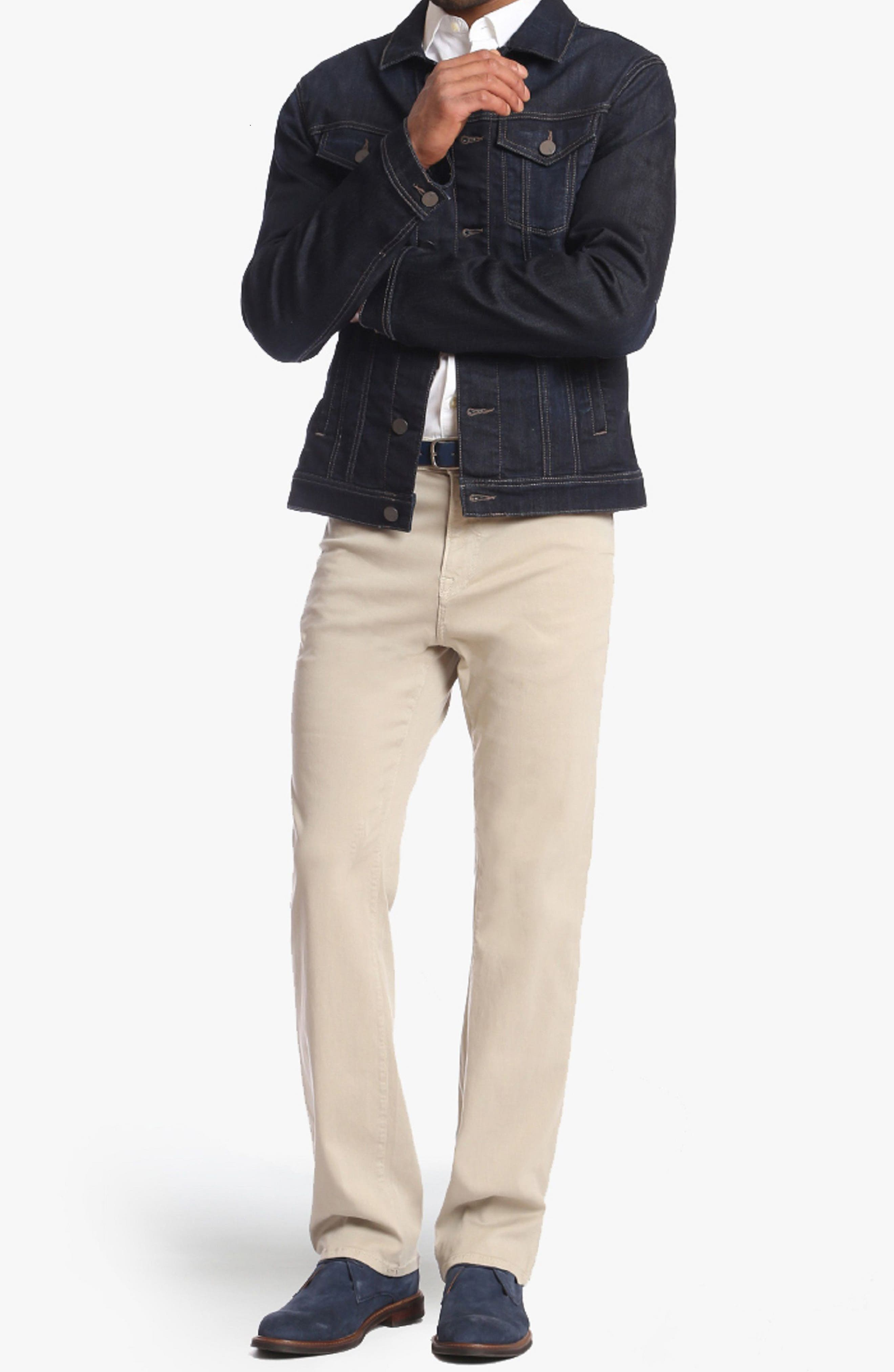 Charisma Relaxed Fit Jeans,                             Alternate thumbnail 4, color,                             STONE TWILL