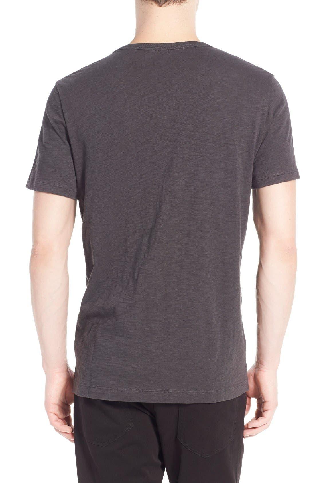 Slub V-Neck T-Shirt,                             Alternate thumbnail 5, color,                             SPHERE