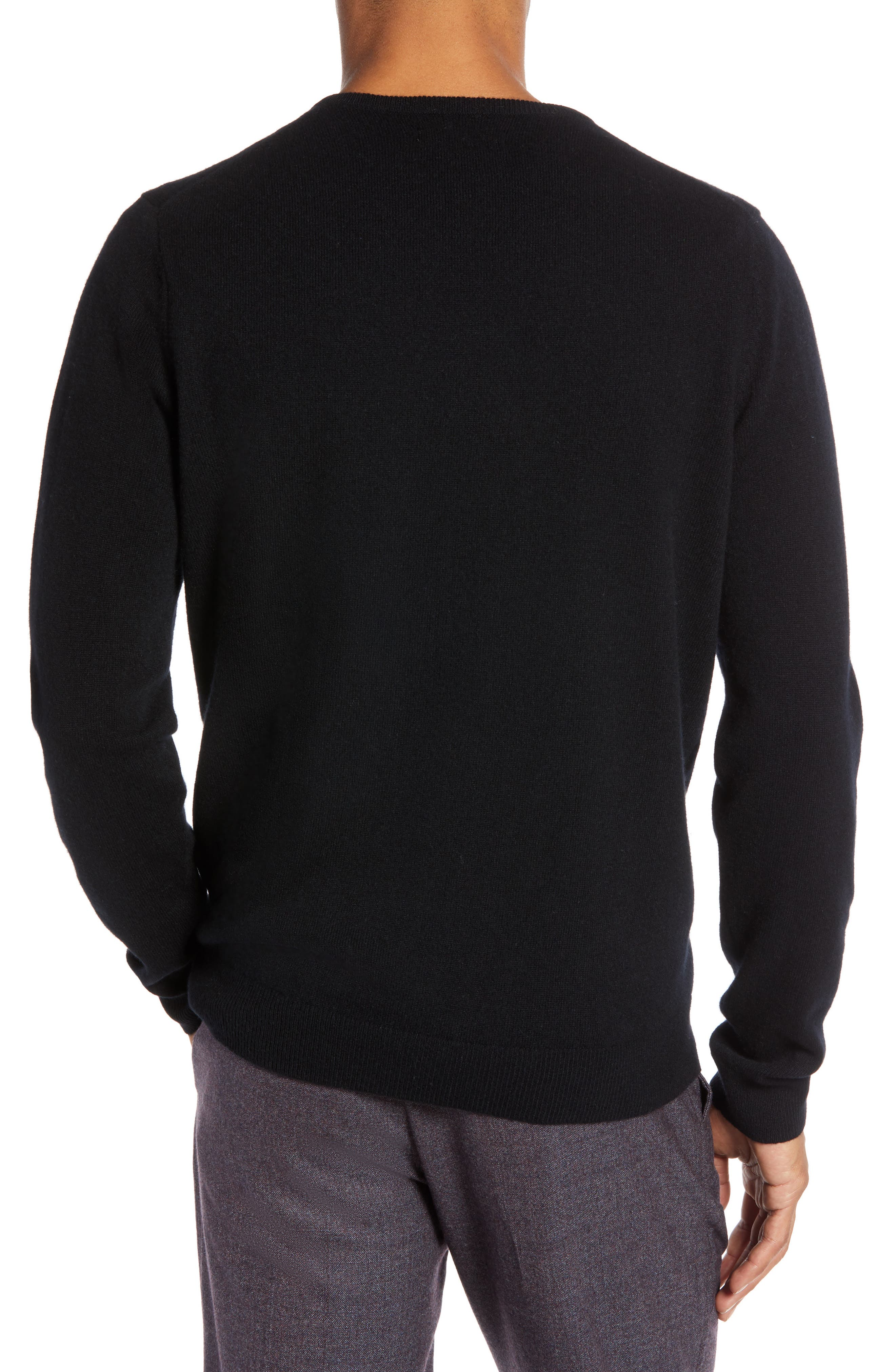 1901,                             Regular Fit Wool & Cashmere Sweater,                             Alternate thumbnail 2, color,                             001