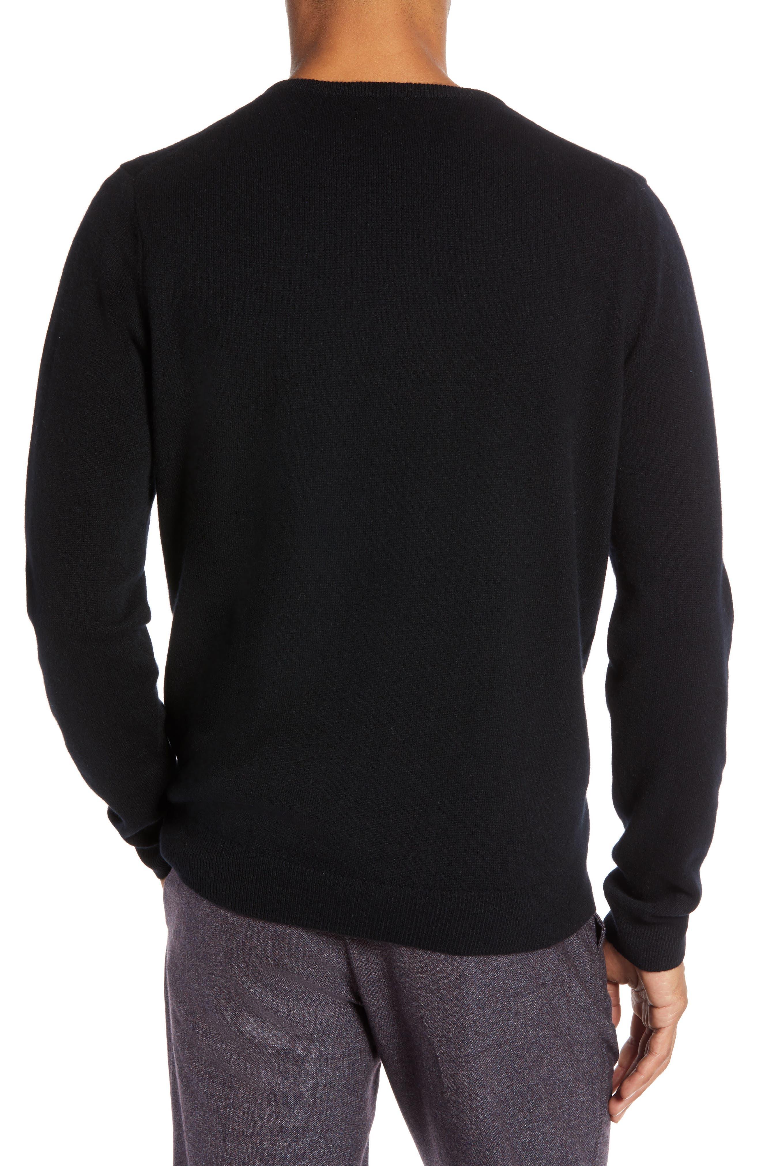Regular Fit Wool & Cashmere Sweater,                             Alternate thumbnail 2, color,                             BLACK CAVIAR