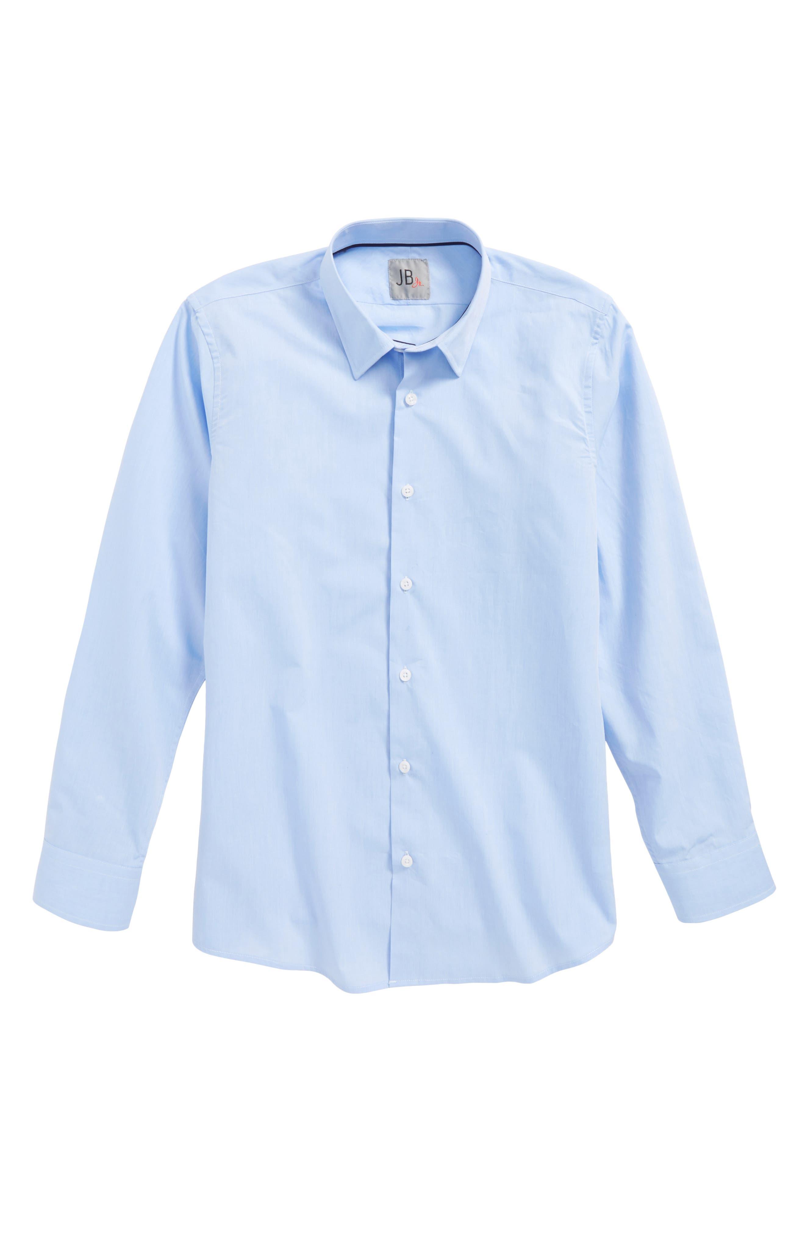 Solid Dress Shirt,                             Main thumbnail 1, color,                             430