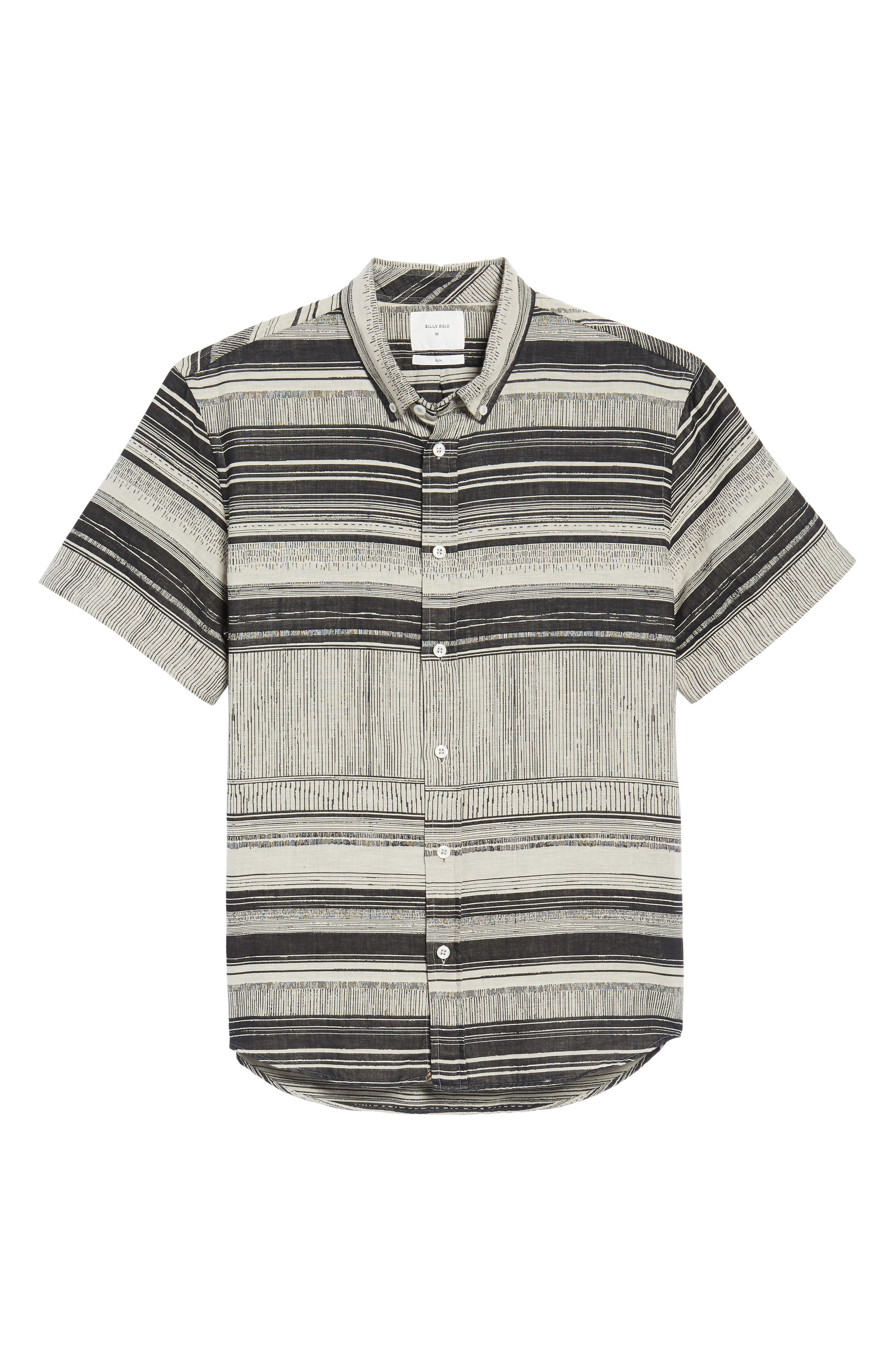 Murphy Stripe Short Sleeve Sport Shirt,                             Alternate thumbnail 6, color,                             025