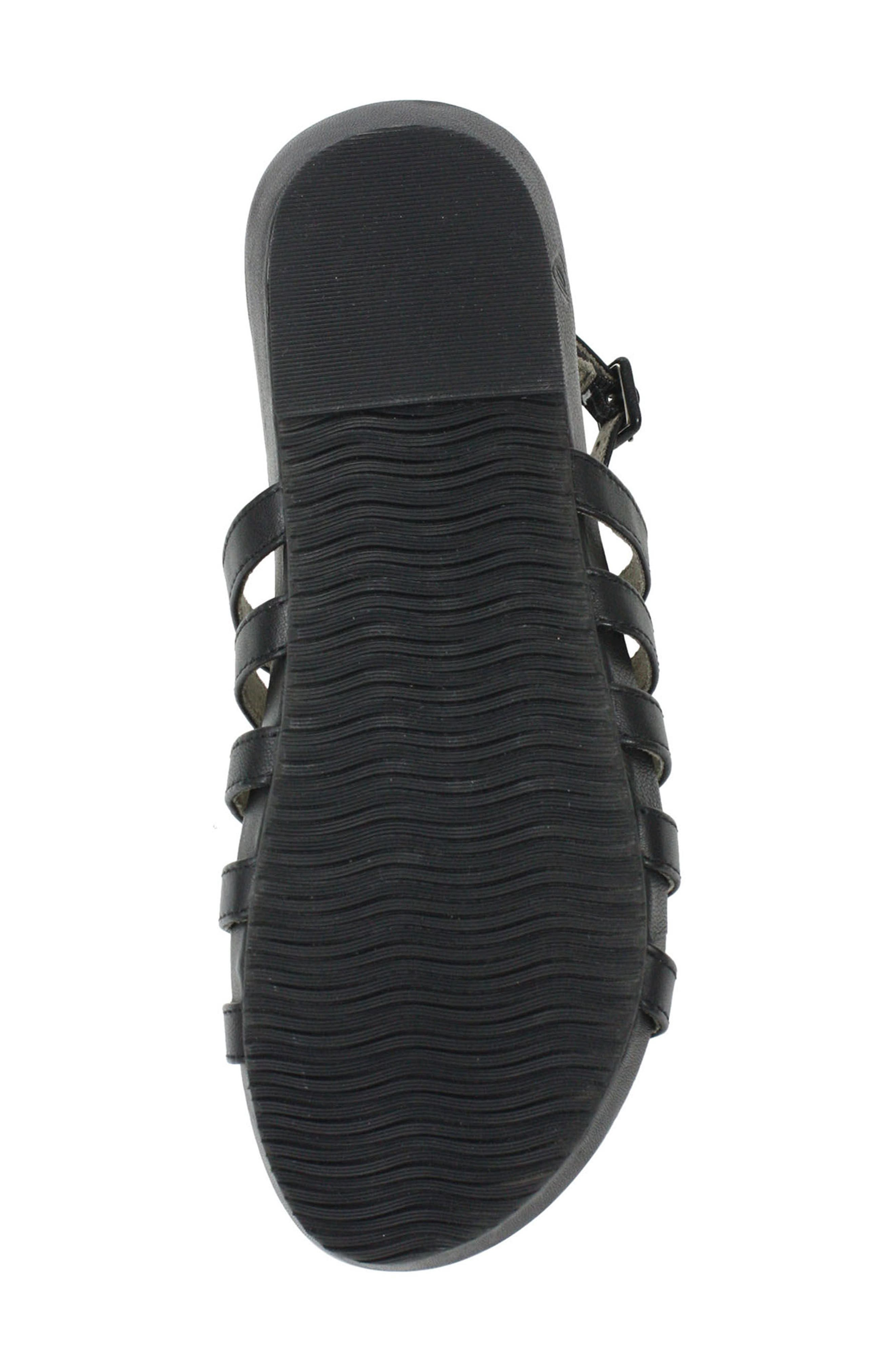 Delmor Ankle Strap Sandal,                             Alternate thumbnail 6, color,                             BLACK LEATHER