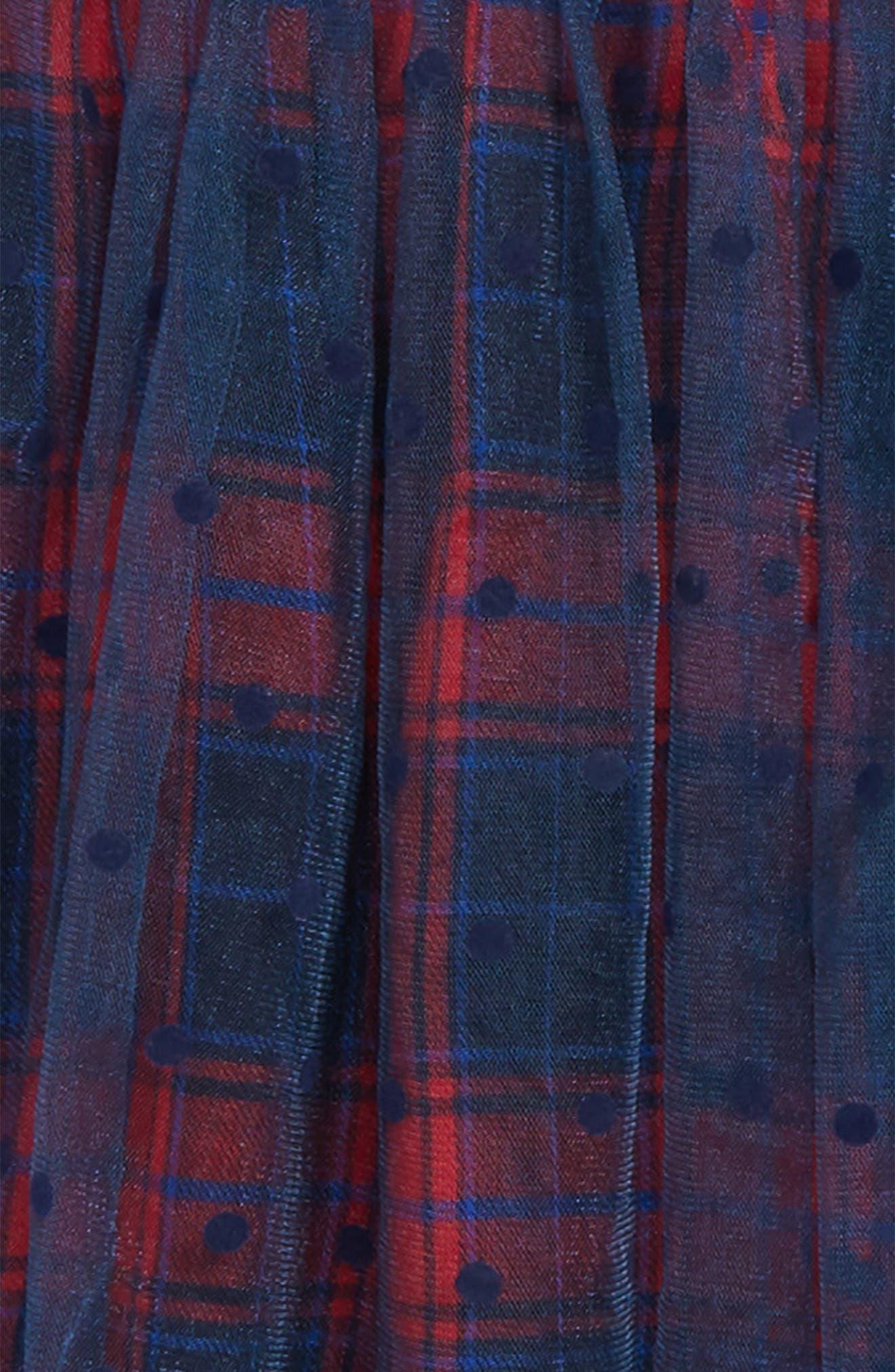 Polka Dot Plaid Tutu Skirt,                             Alternate thumbnail 3, color,                             418
