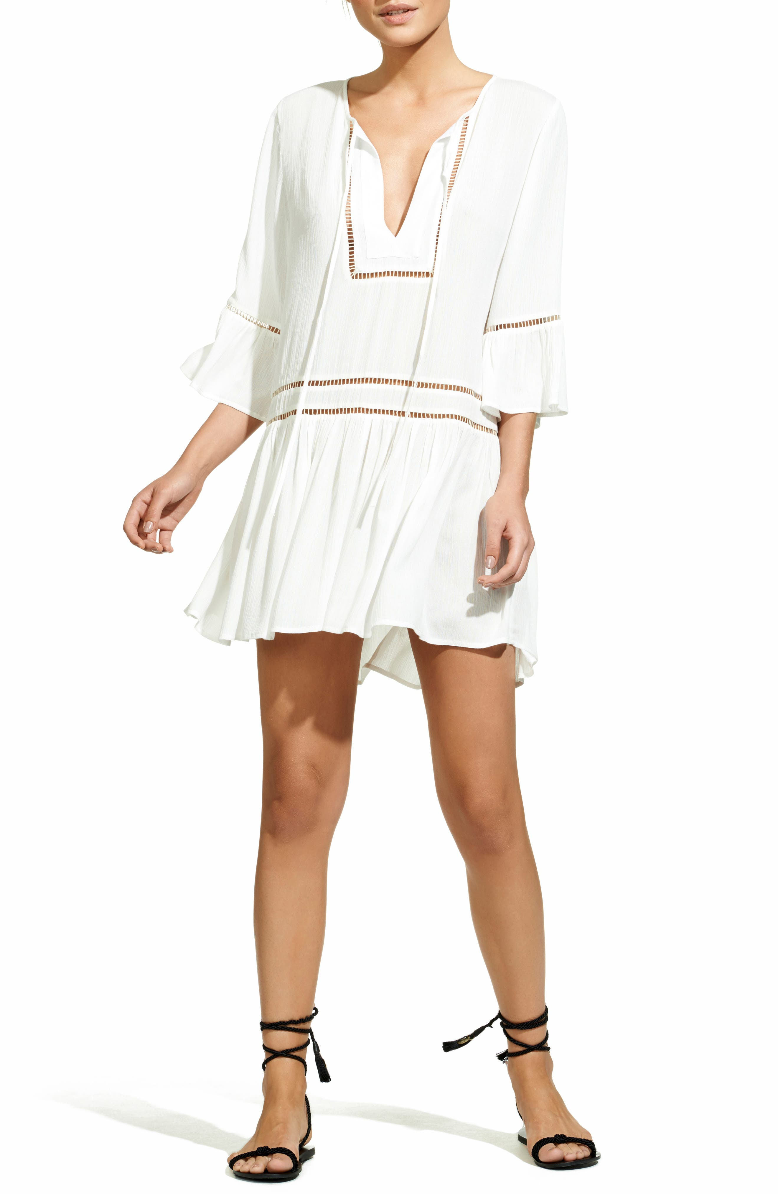 Agatha Cover-Up Dress,                             Main thumbnail 1, color,                             WHITE