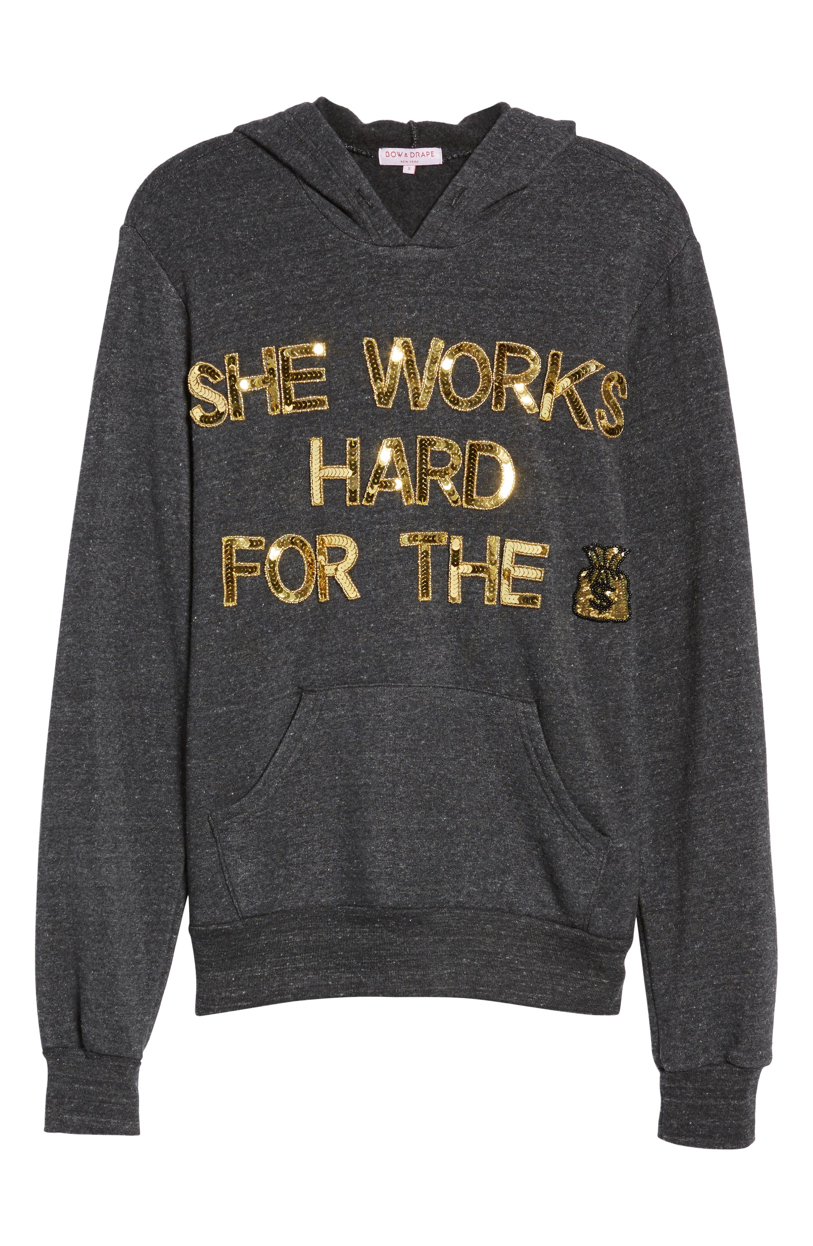 She Works Hard for the Money Hoodie,                             Alternate thumbnail 6, color,                             020
