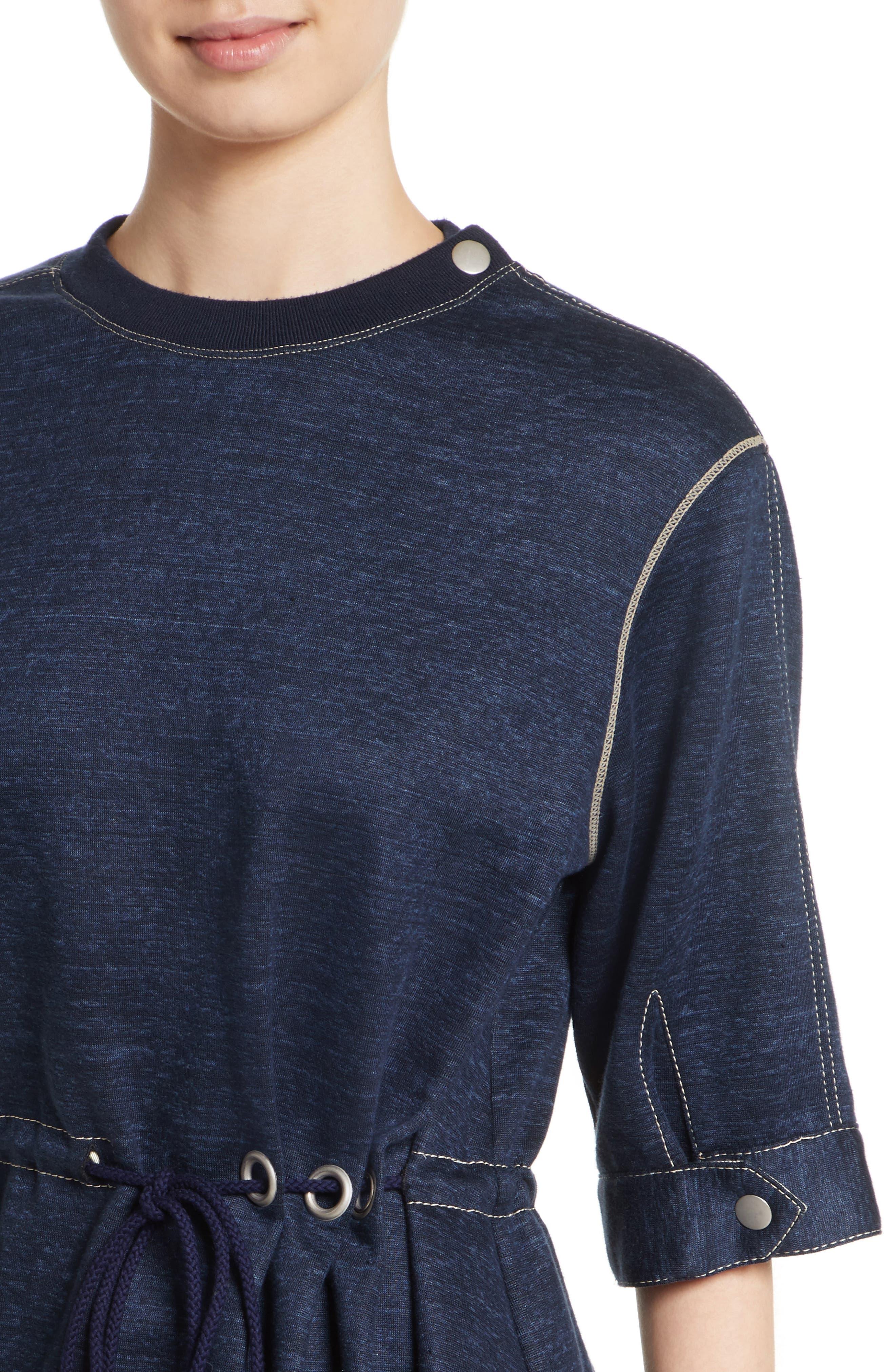 Drawstring Waist Sweatshirt Top,                             Alternate thumbnail 4, color,                             410
