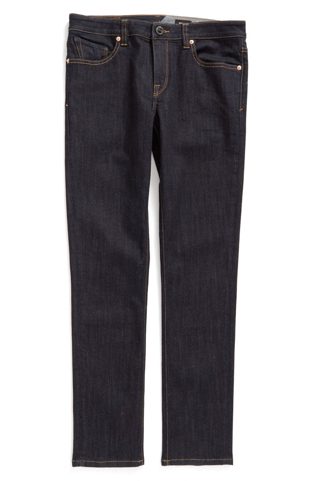 'Solver' Straight Leg Denim Jeans,                             Main thumbnail 1, color,                             BLUE RINSE