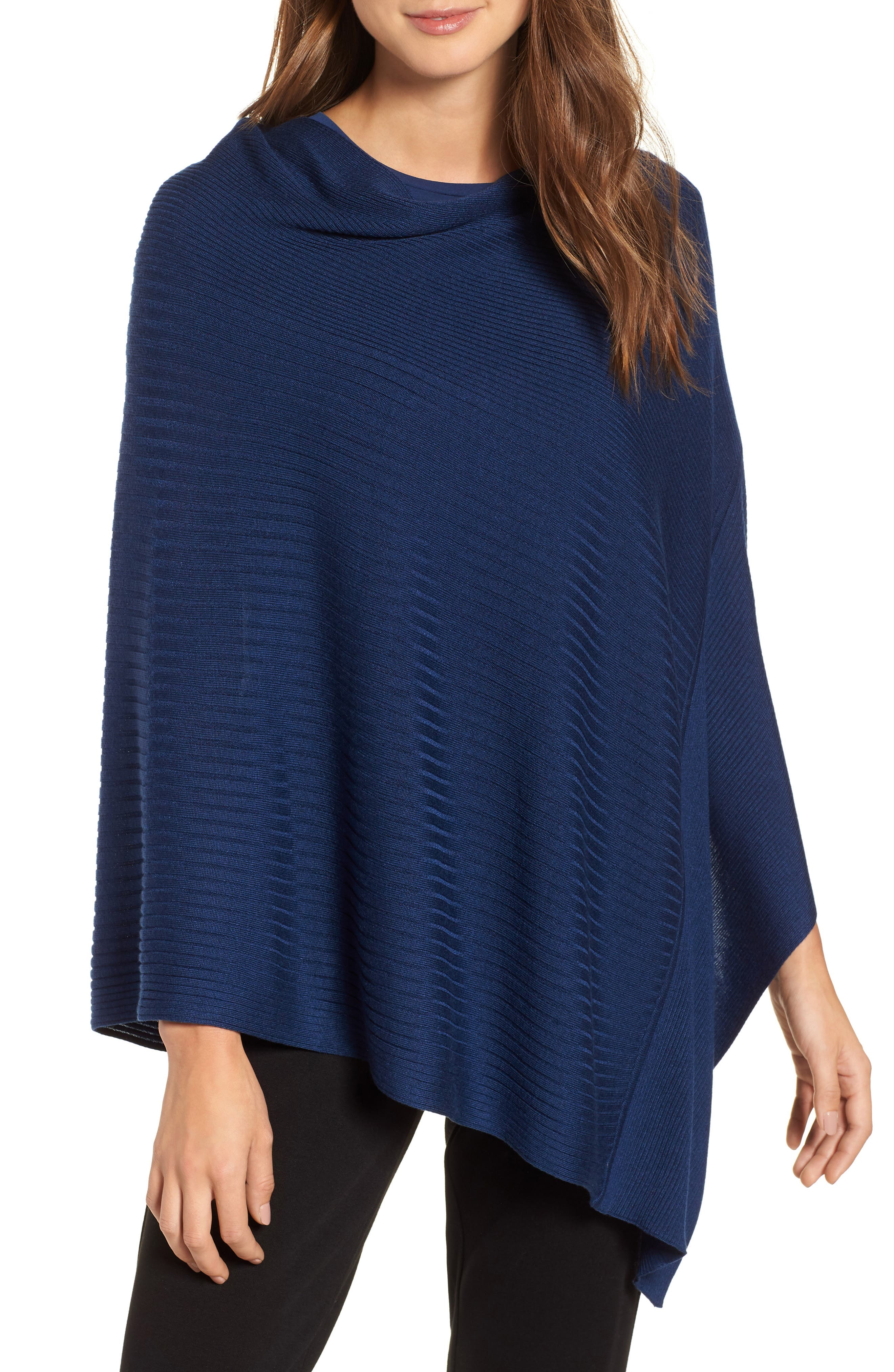 Bateau Neck Sweater Poncho,                             Main thumbnail 2, color,