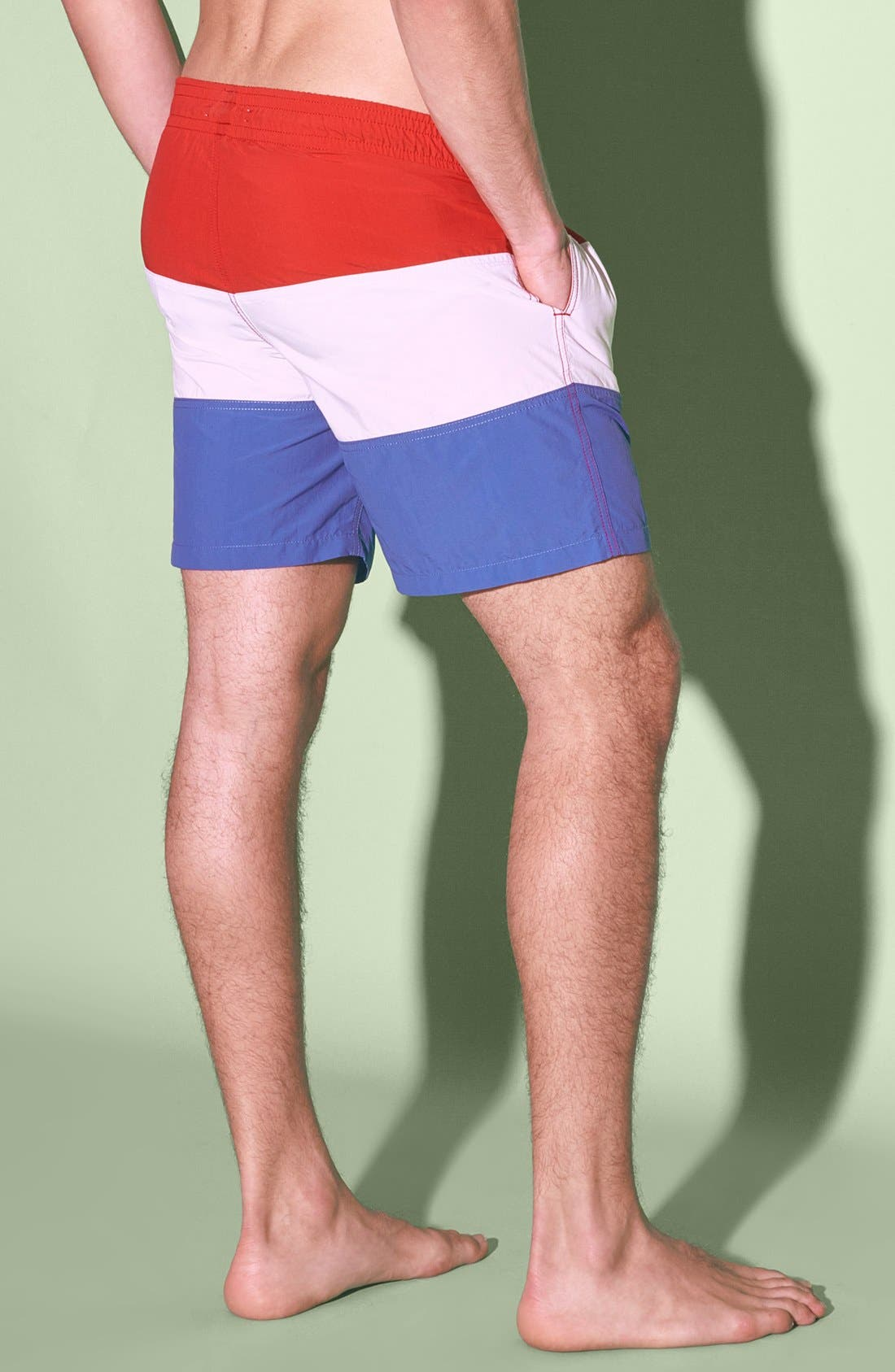 'Classic' Slim Fit Trunks,                             Alternate thumbnail 3, color,                             100