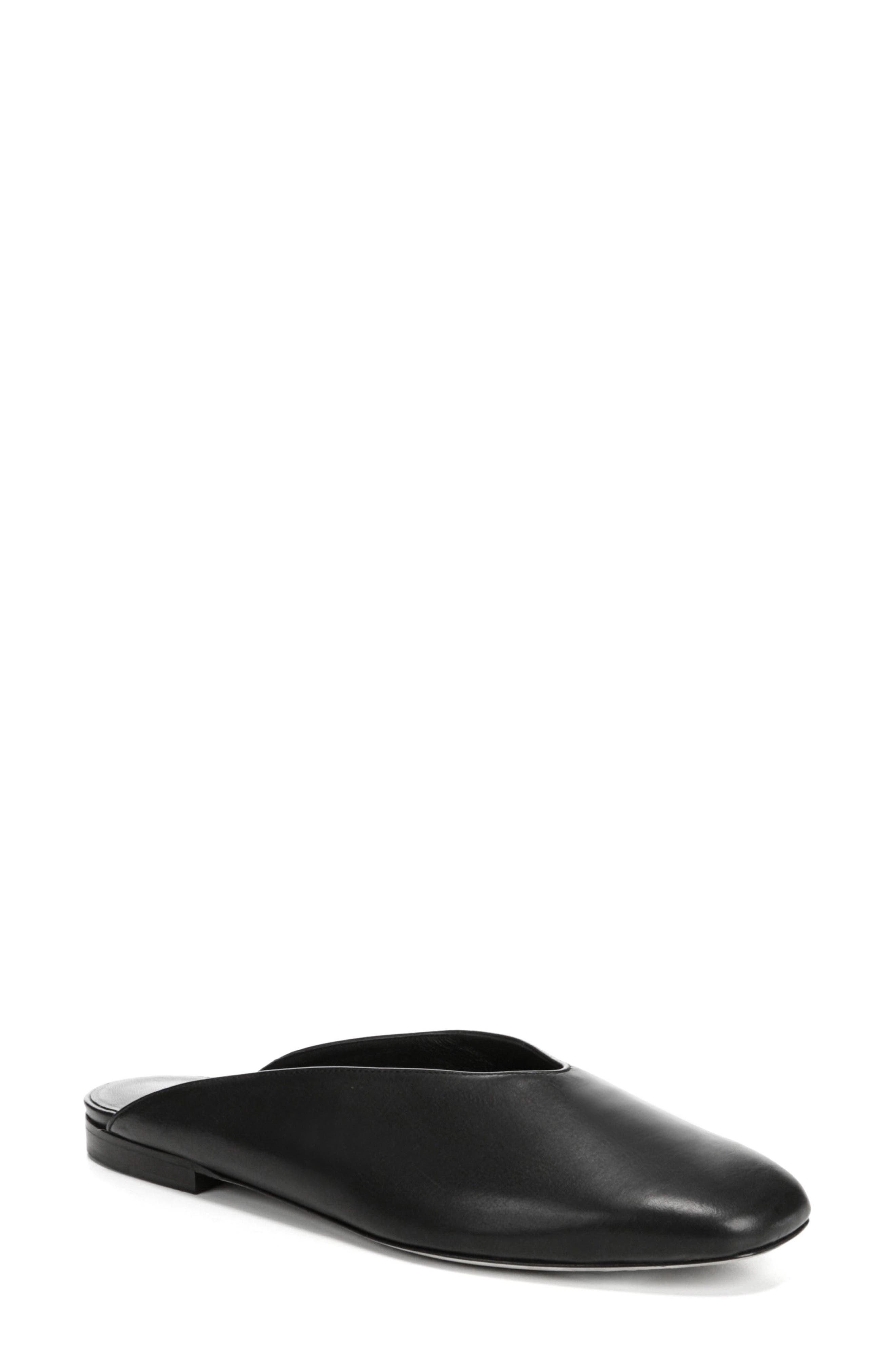 Levins V-Cut Mule,                         Main,                         color, BLACK