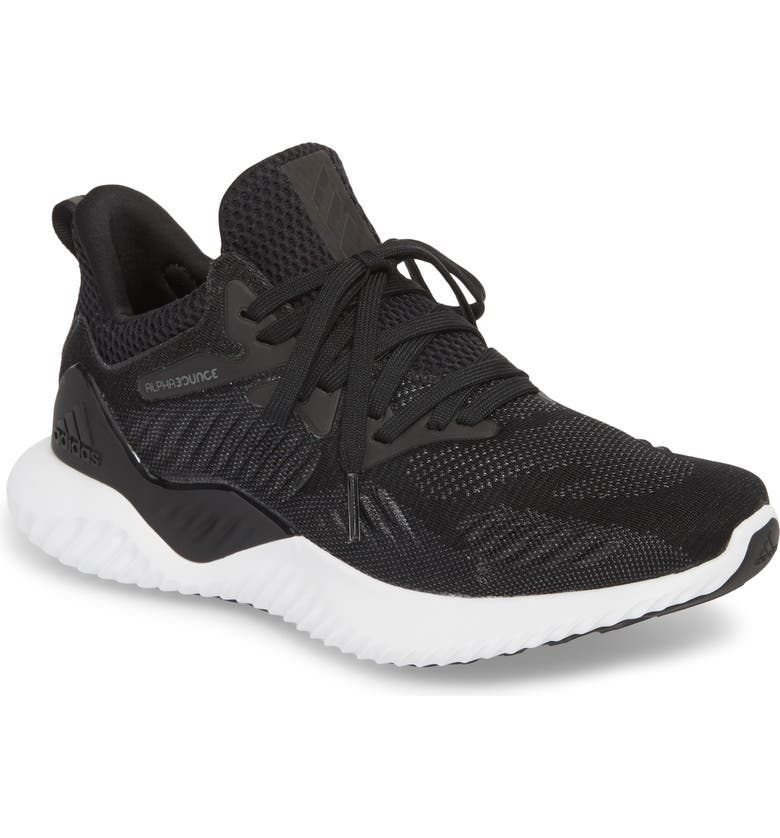 sports shoes 1db6a 5ccd0 ADIDAS AlphaBounce Beyond Knit Running Shoe, Main, color, CORE BLACK CORE  BLACK