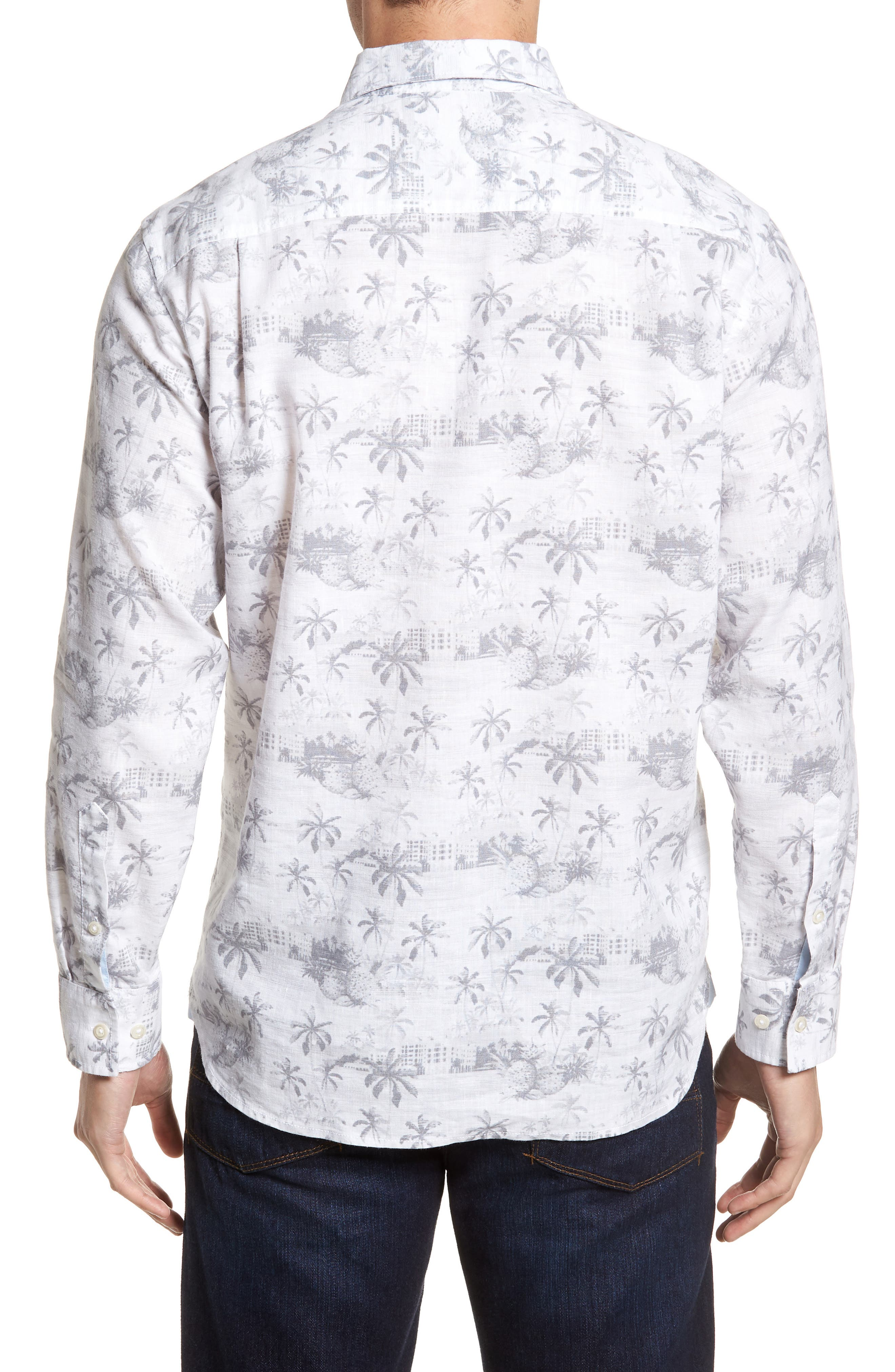 Tropical Toile Sport Shirt,                             Alternate thumbnail 2, color,