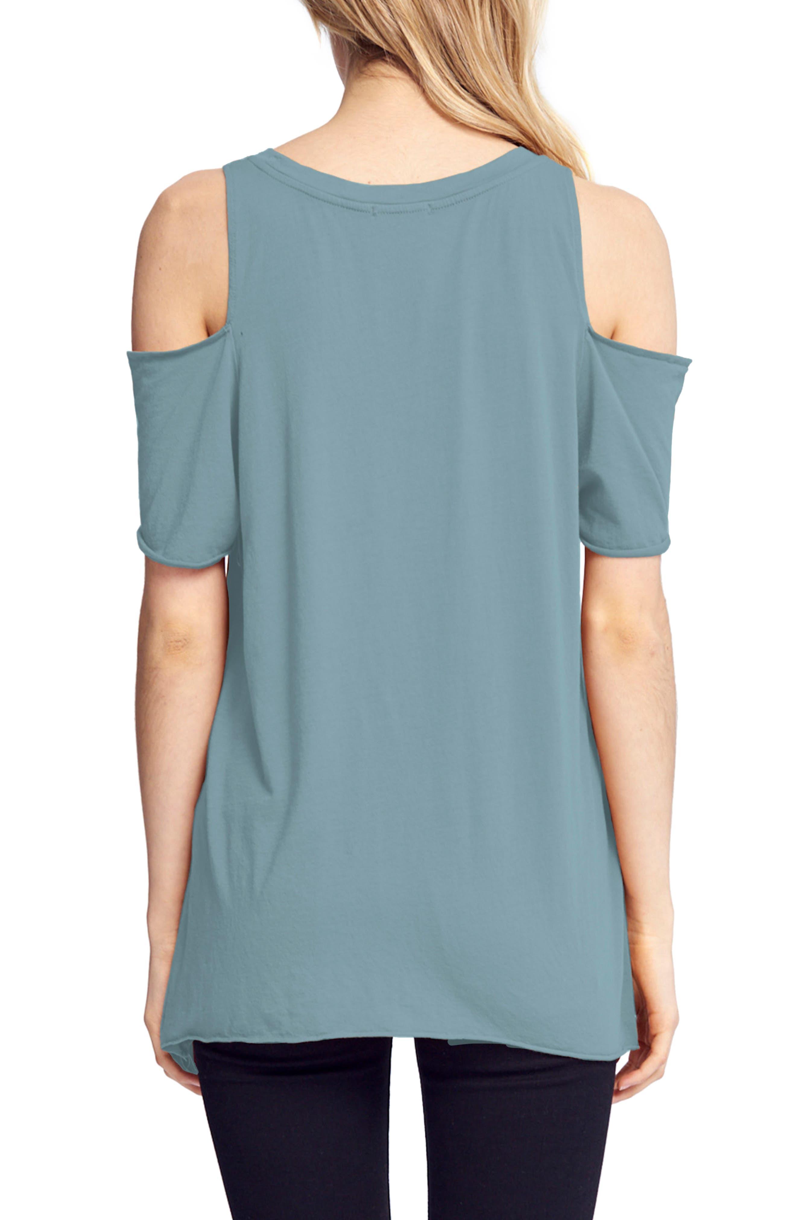 Cold Shoulder Short Sleeve Tee,                             Main thumbnail 1, color,                             468