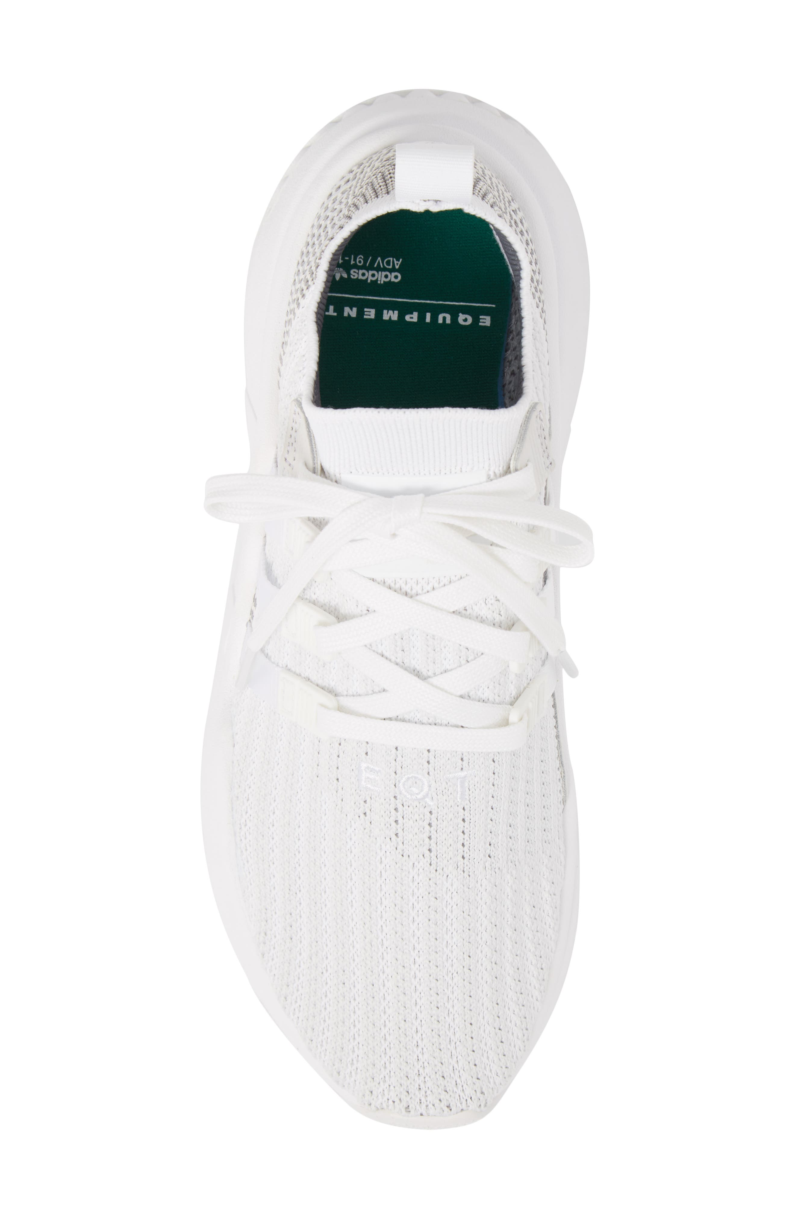 EQT Support Mid ADV Primeknit Sneaker,                             Alternate thumbnail 5, color,                             WHITE/ WHITE/ GREY