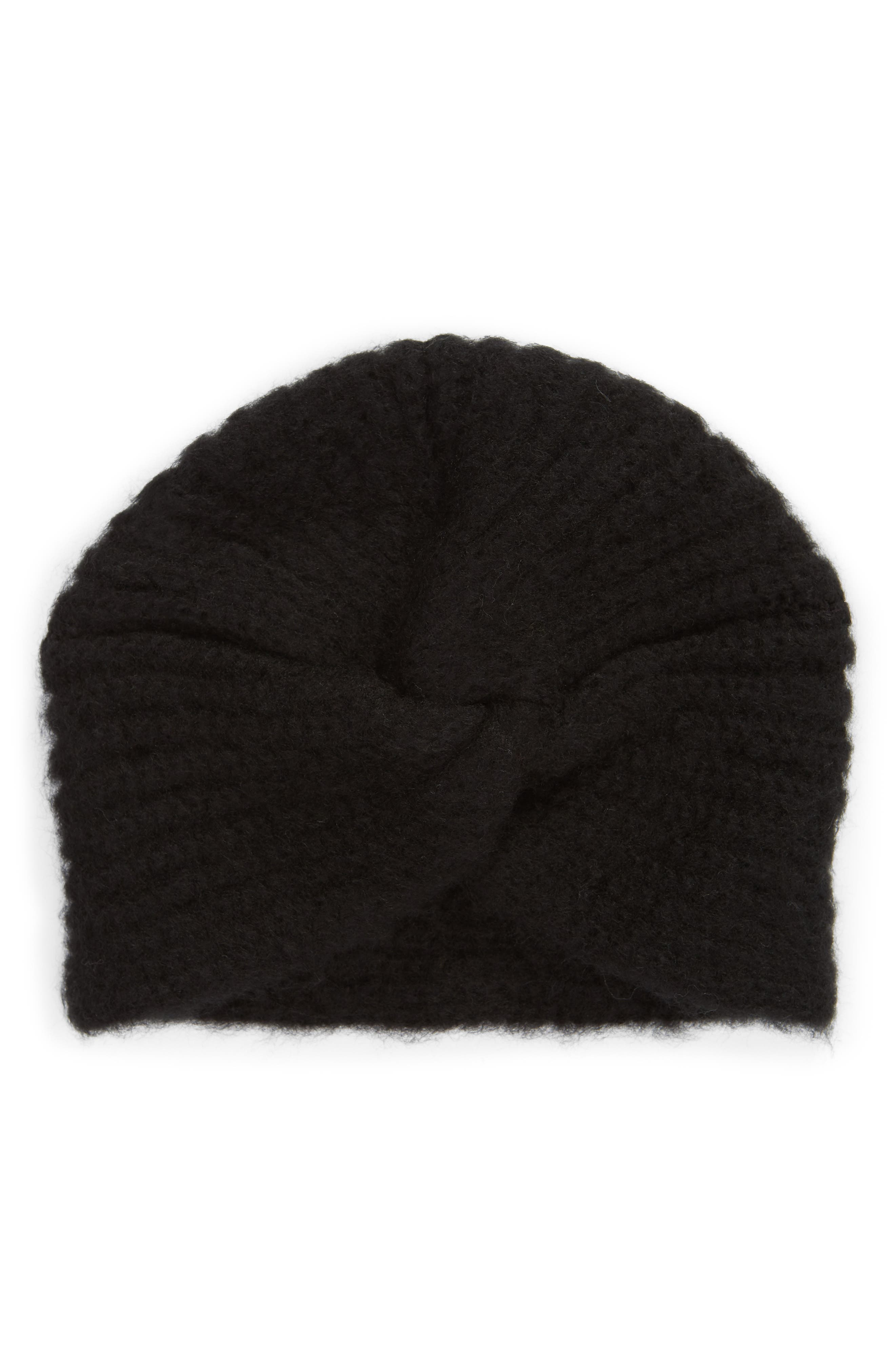 SOMETHING NAVY Turban Beanie, Main, color, 001