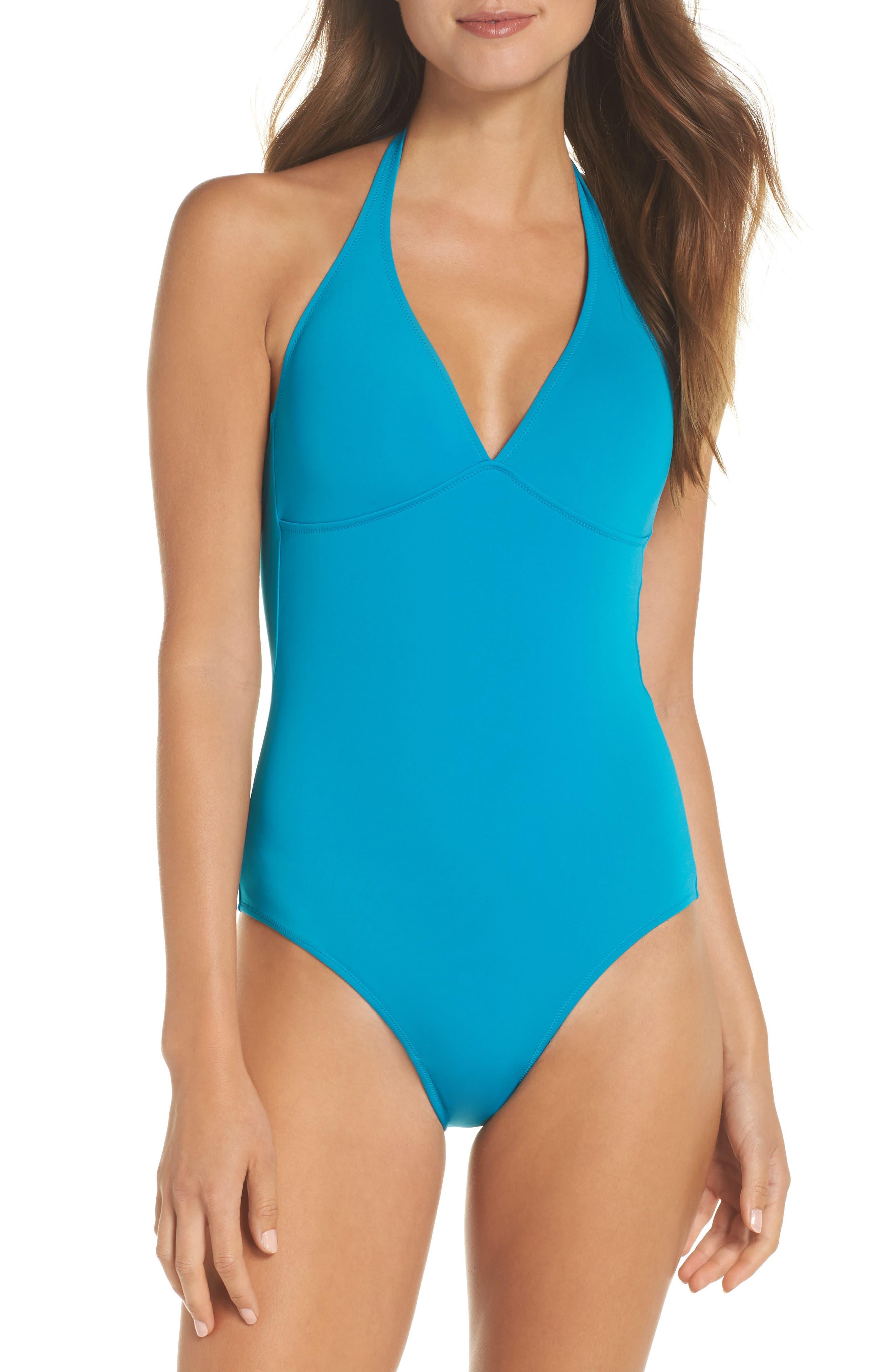 Women Swimwear - Women Shaping One Piece Swimsuit Solid - Swimming Trunk - Fames in Blue