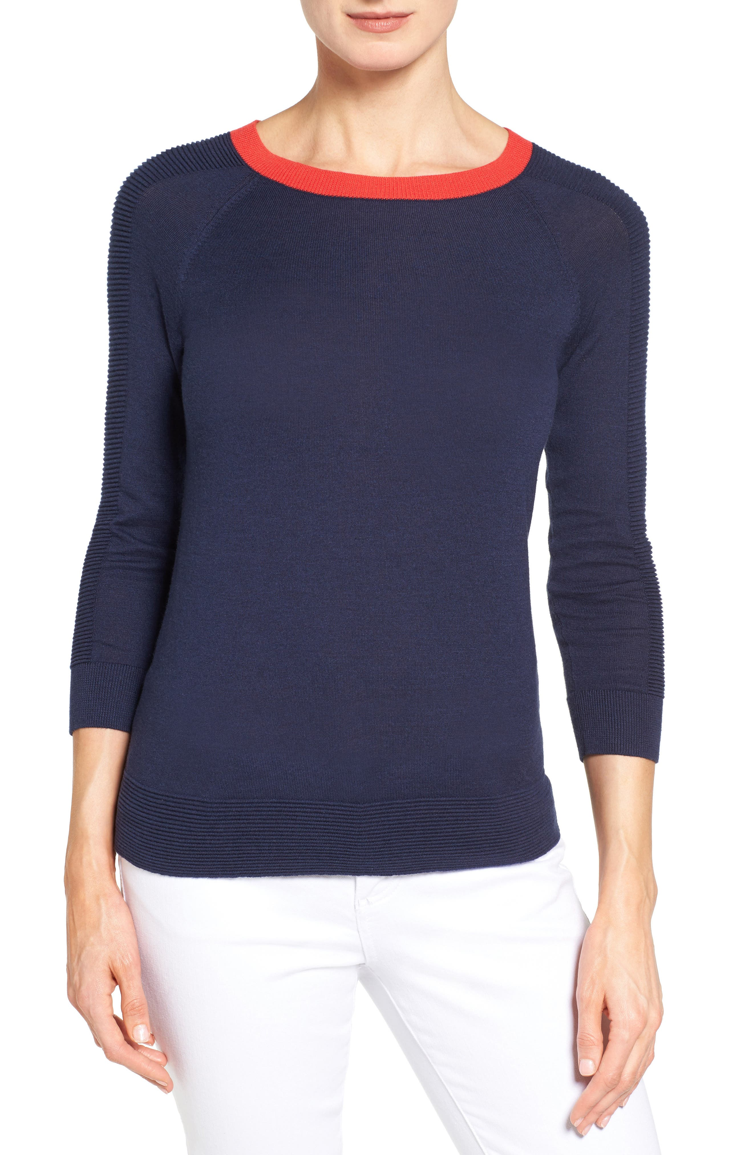 Cotton Blend Pullover,                             Main thumbnail 16, color,
