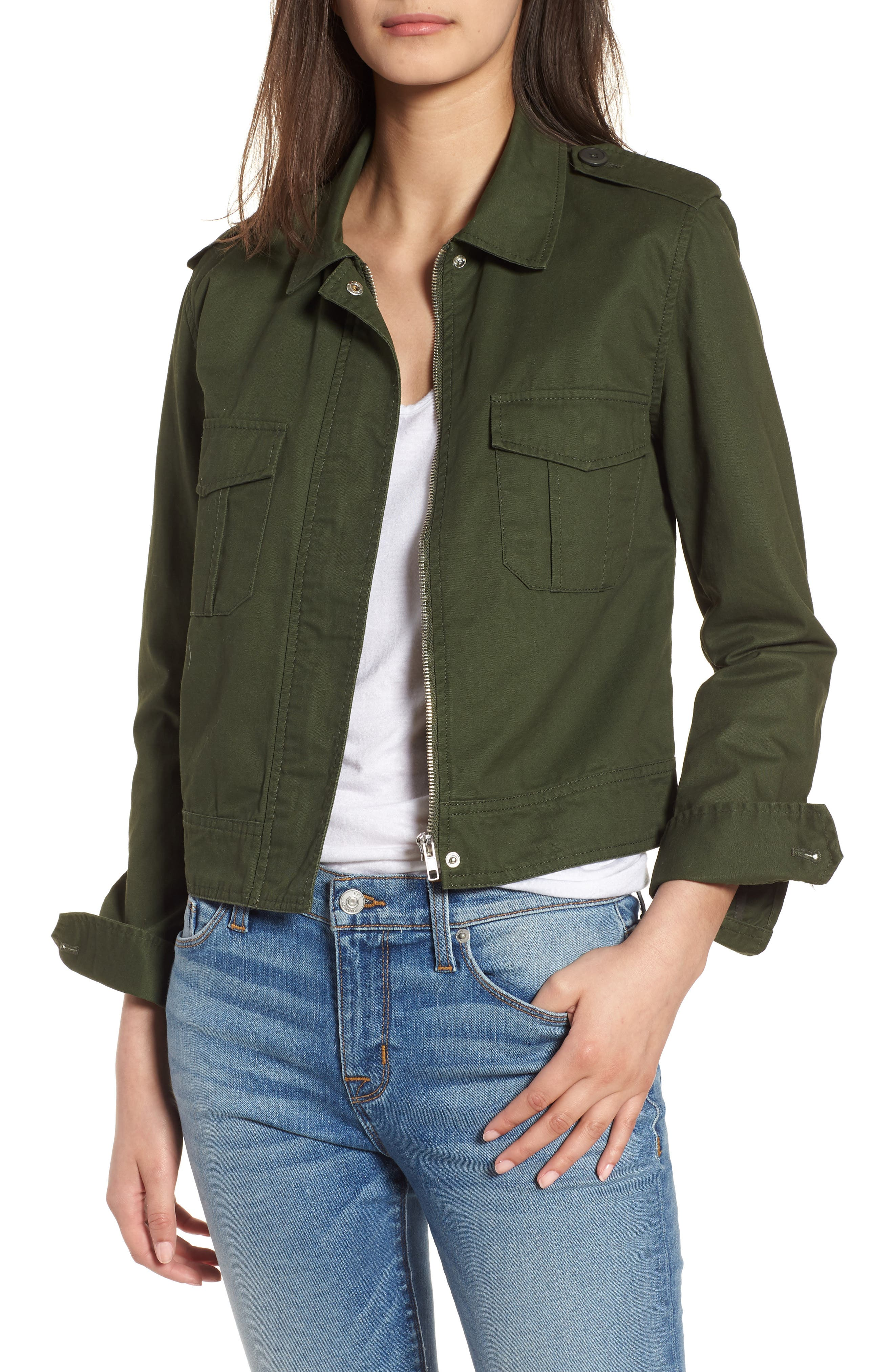 Maddox Cotton Twill Army Jacket, Main, color, 301