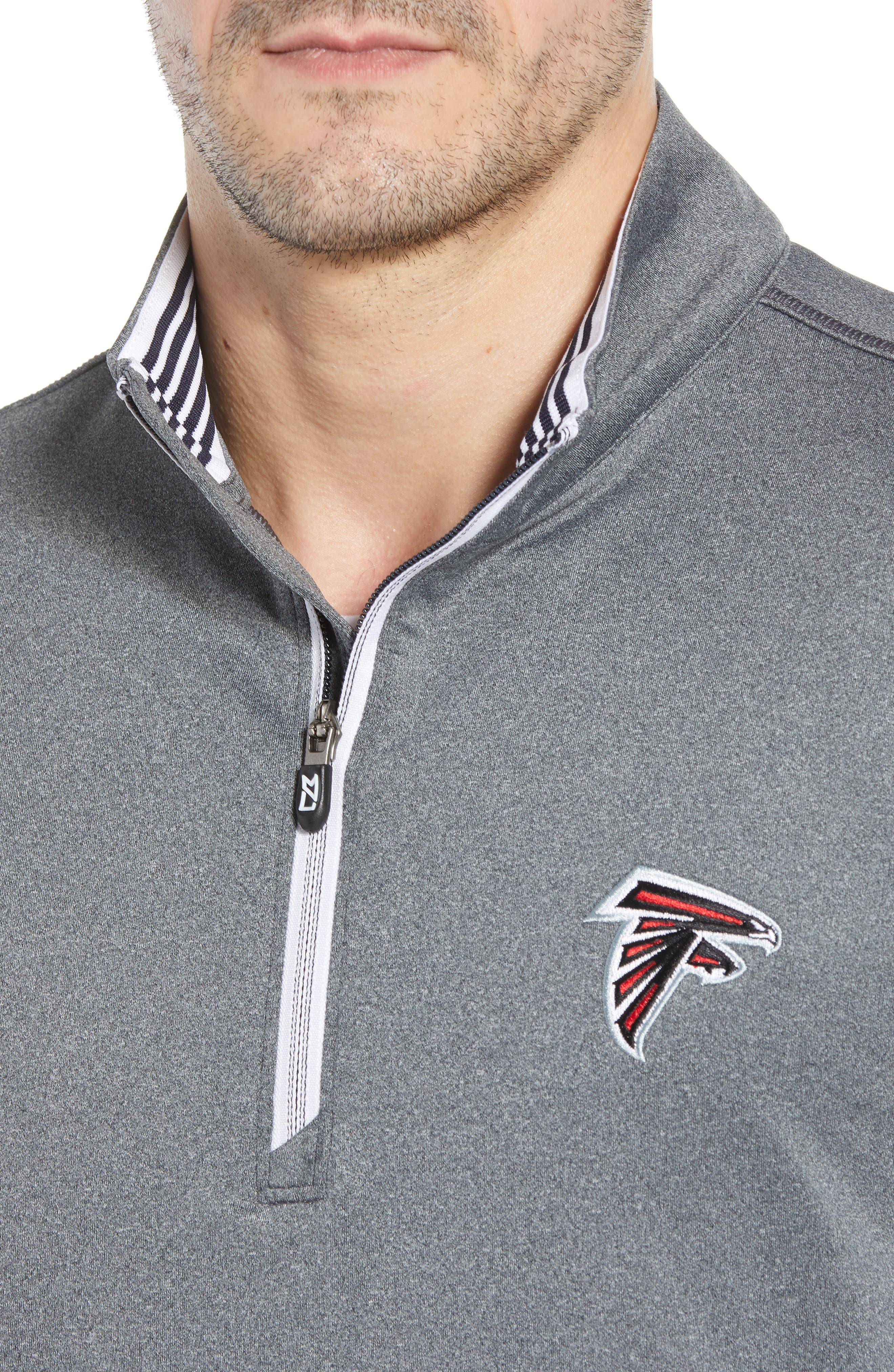 Endurance Atlanta Falcons Regular Fit Pullover,                             Alternate thumbnail 4, color,                             CHARCOAL HEATHER