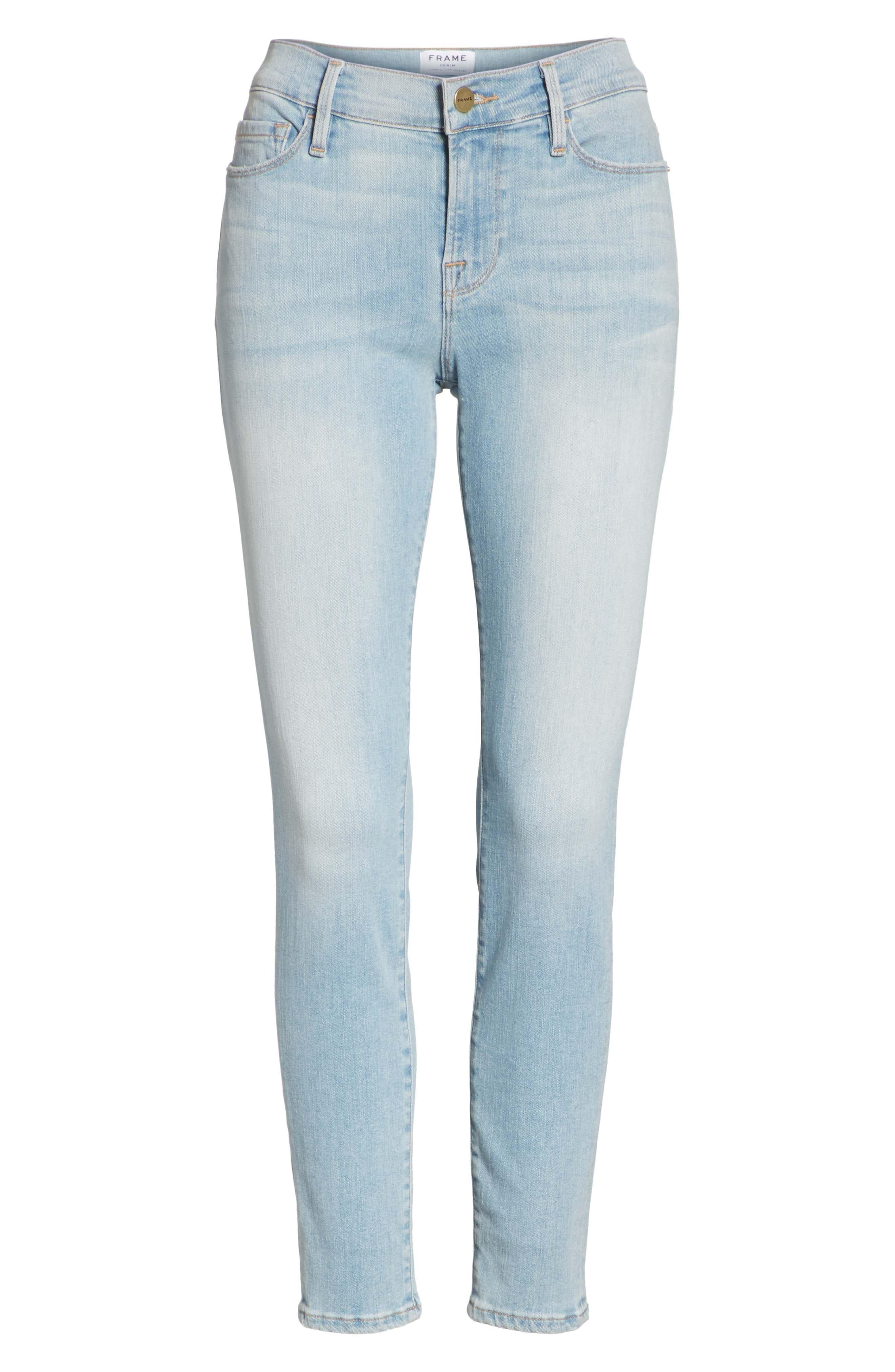 Le Skinny de Jeanne Crop Jeans,                             Alternate thumbnail 6, color,                             SOUTHALL