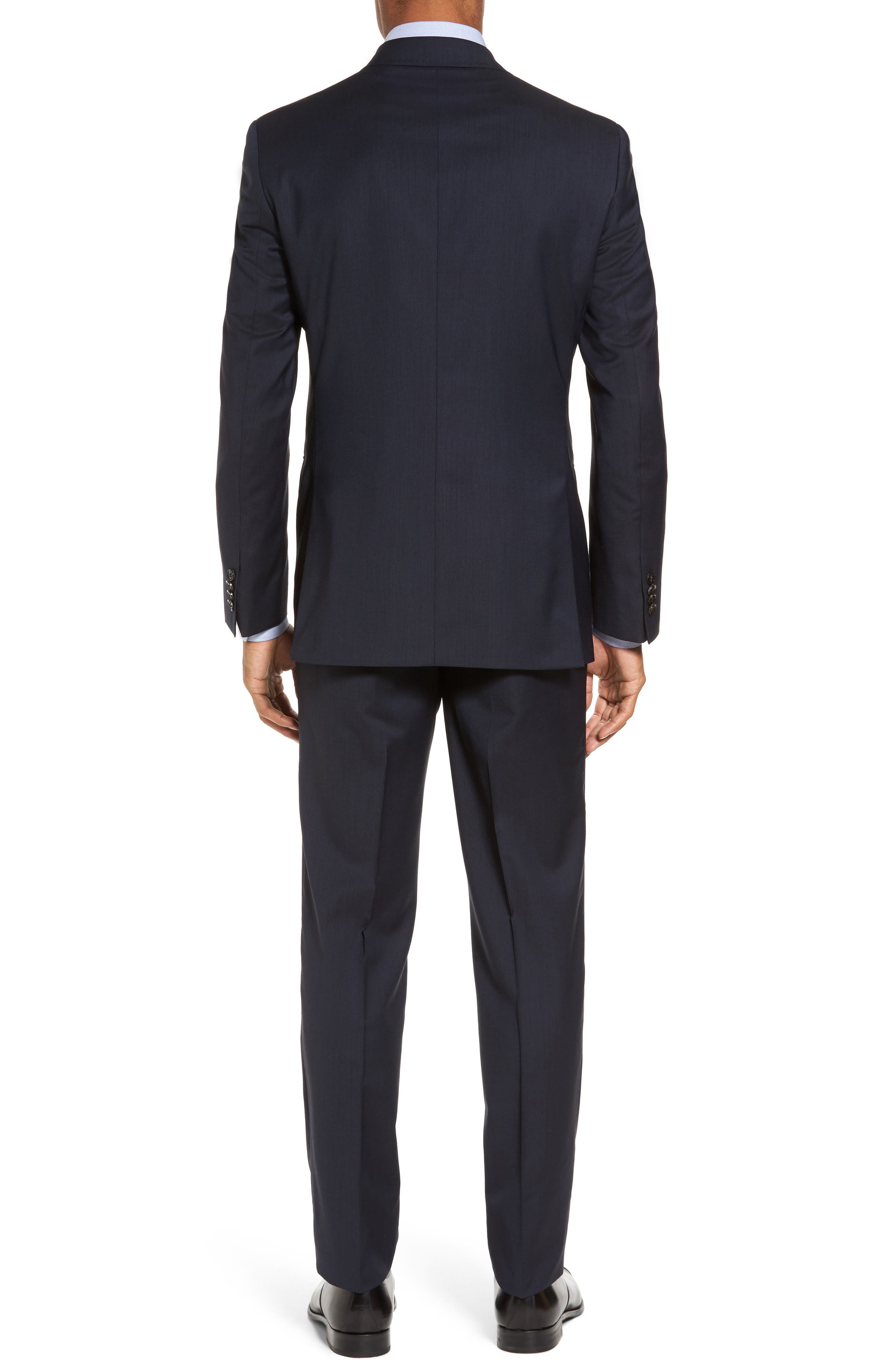 Trim Fit Solid Wool Suit,                             Alternate thumbnail 2, color,