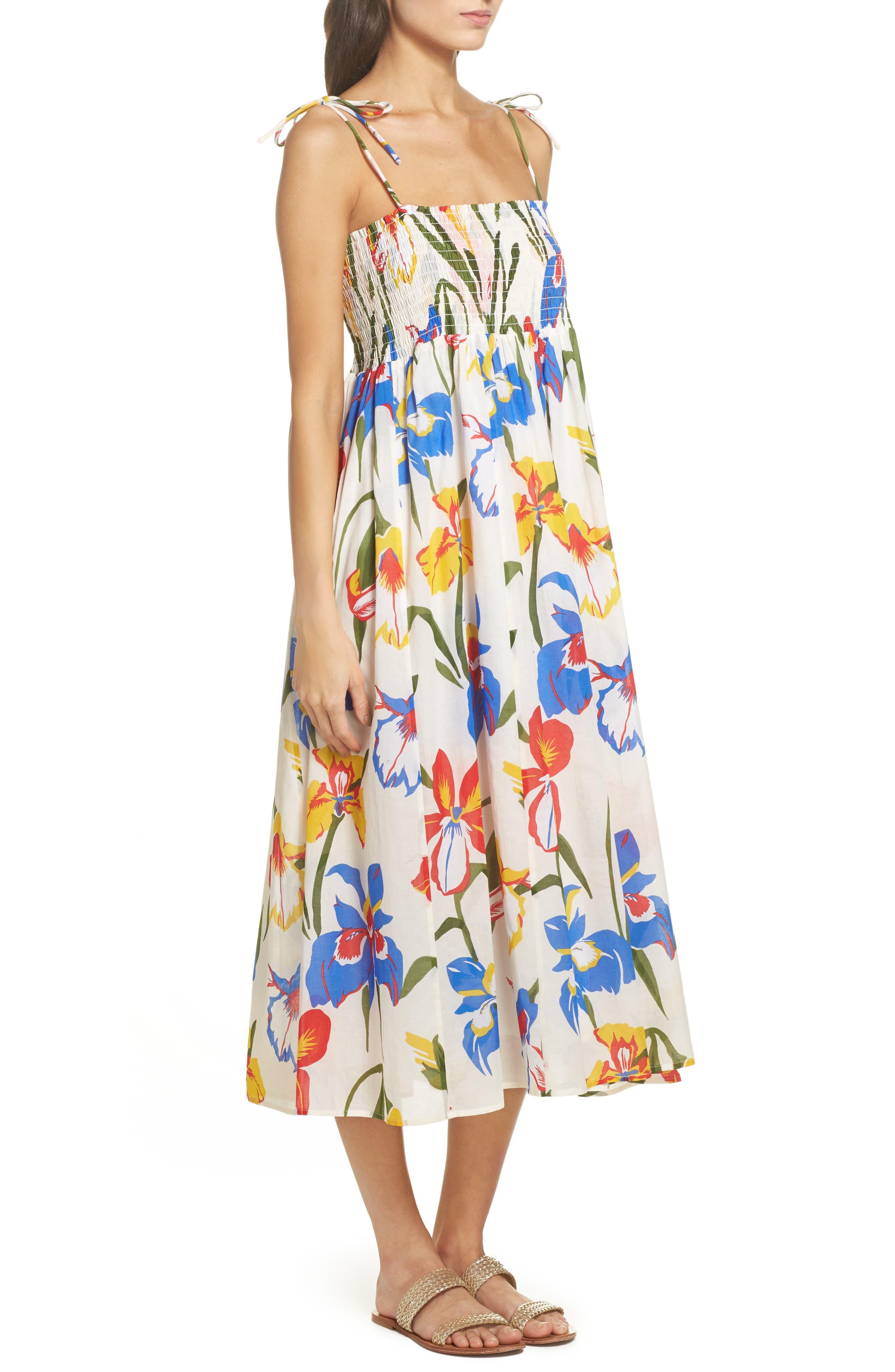 Painter Iris Convertible Cover-Up Dress,                             Alternate thumbnail 3, color,                             500