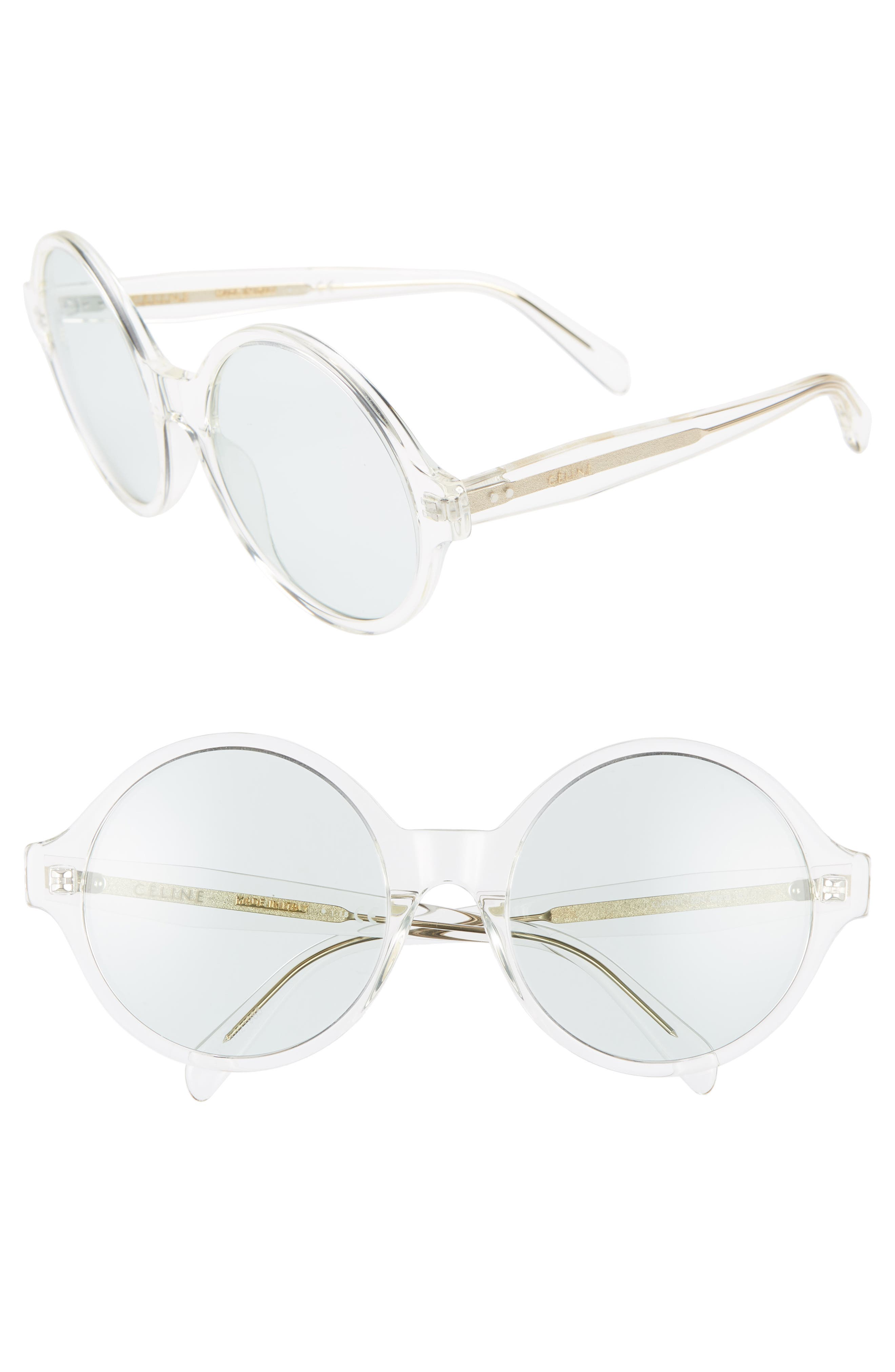 Celine 5m Round Sunglasses - Transparent Yellow/ Lt Green