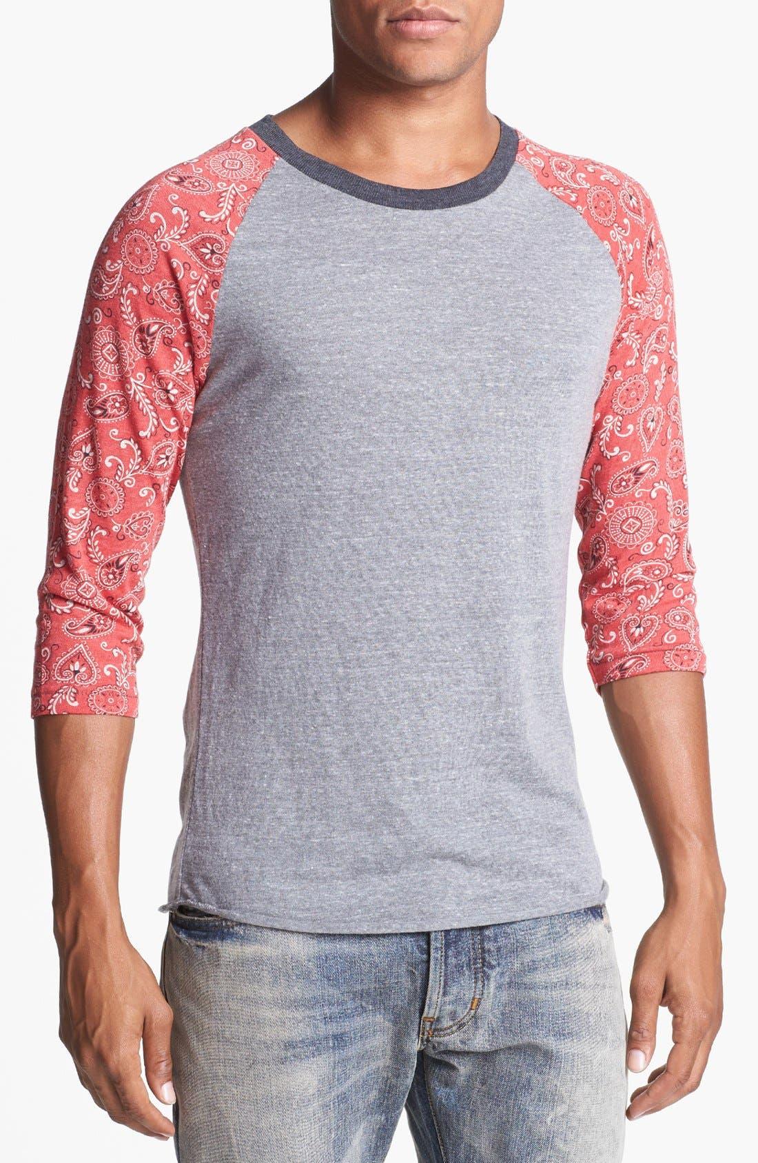 Print Baseball T-Shirt,                             Main thumbnail 2, color,