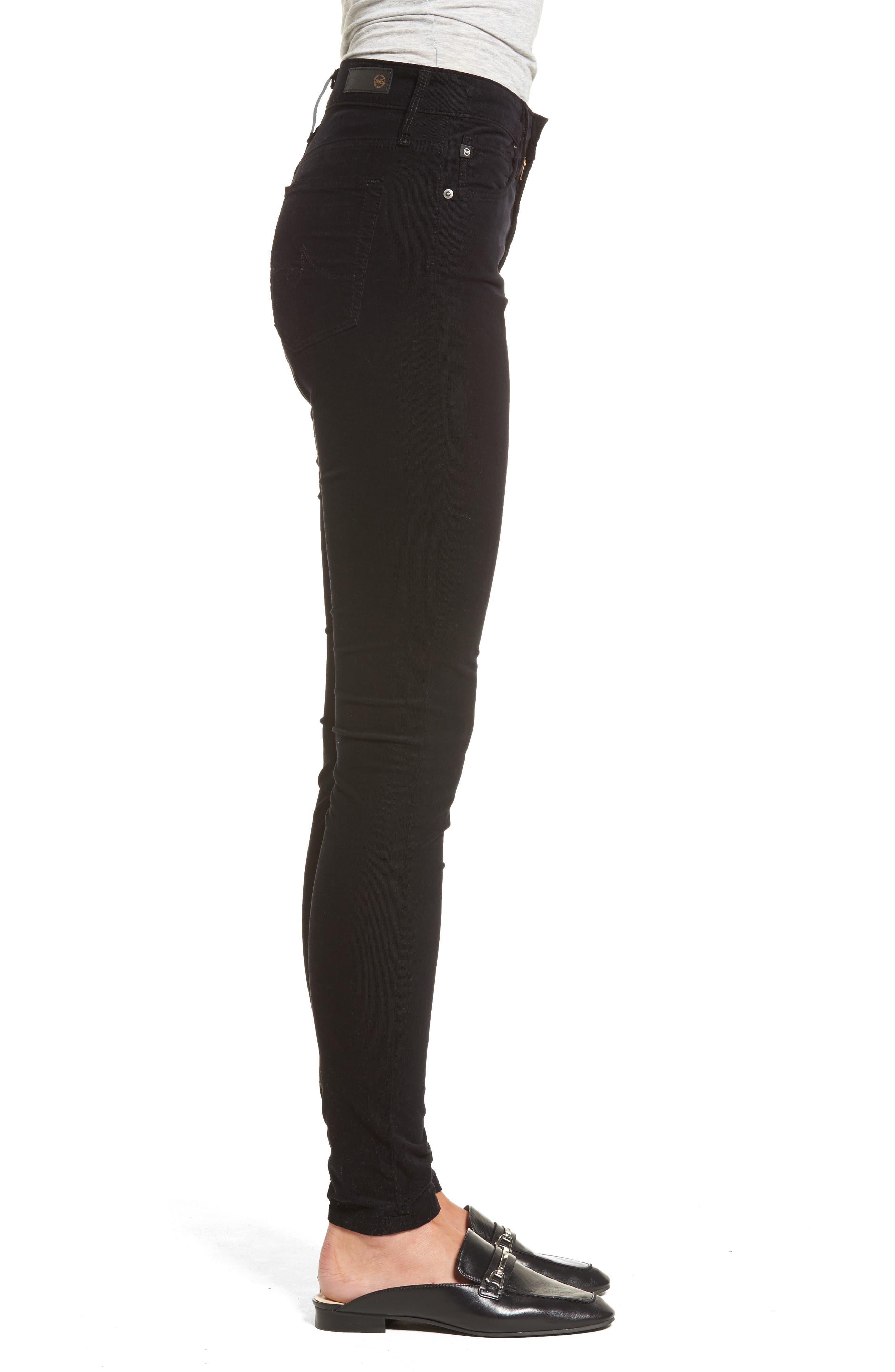 The Farrah High Waist Skinny Corduroy Pants,                             Alternate thumbnail 3, color,                             010