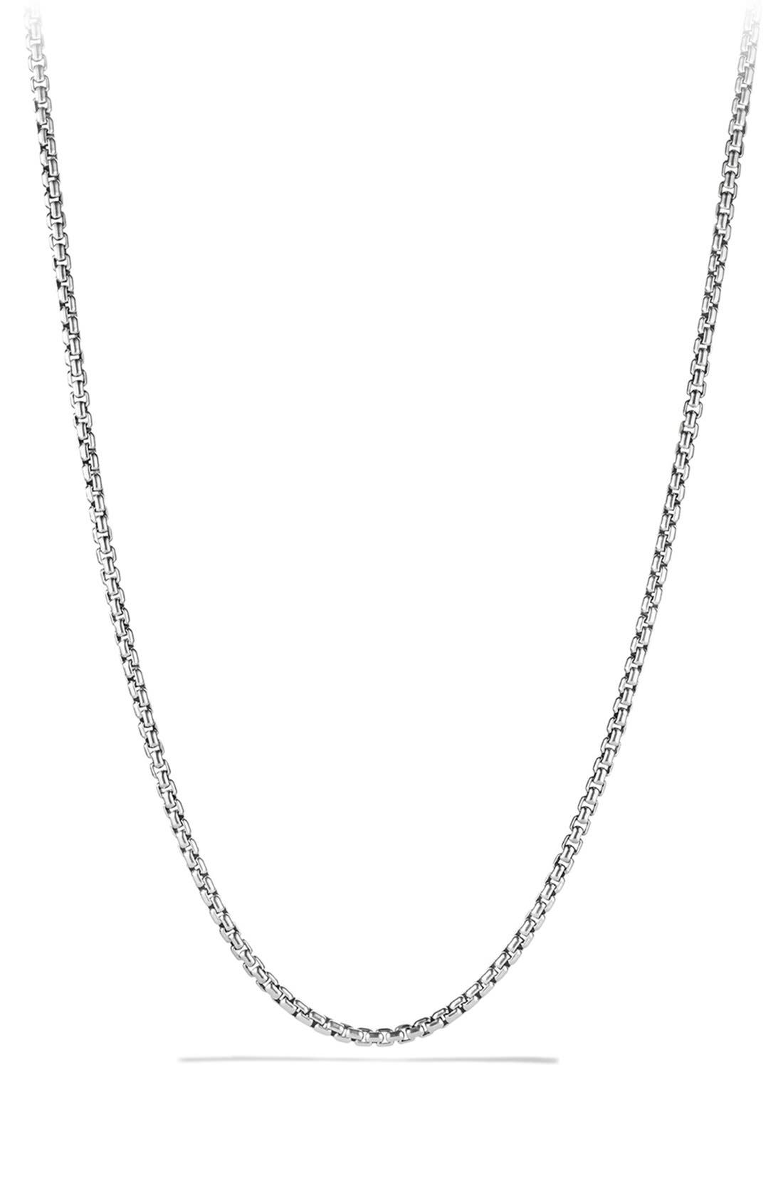 'Chain' Box Chain Necklace,                         Main,                         color, SILVER