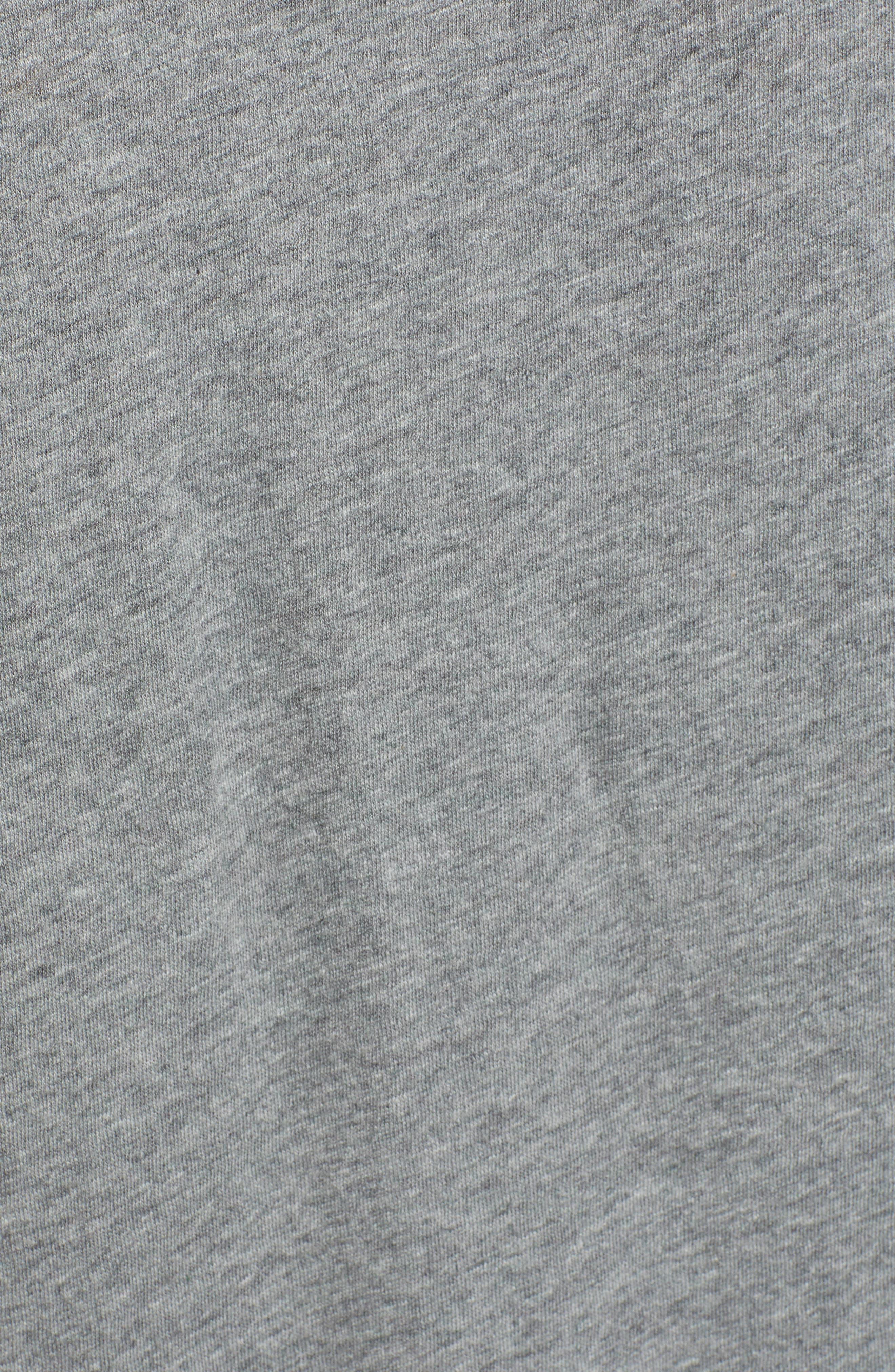 Knot Front T-Shirt Dress,                             Alternate thumbnail 6, color,                             GREY DARK HEATHER
