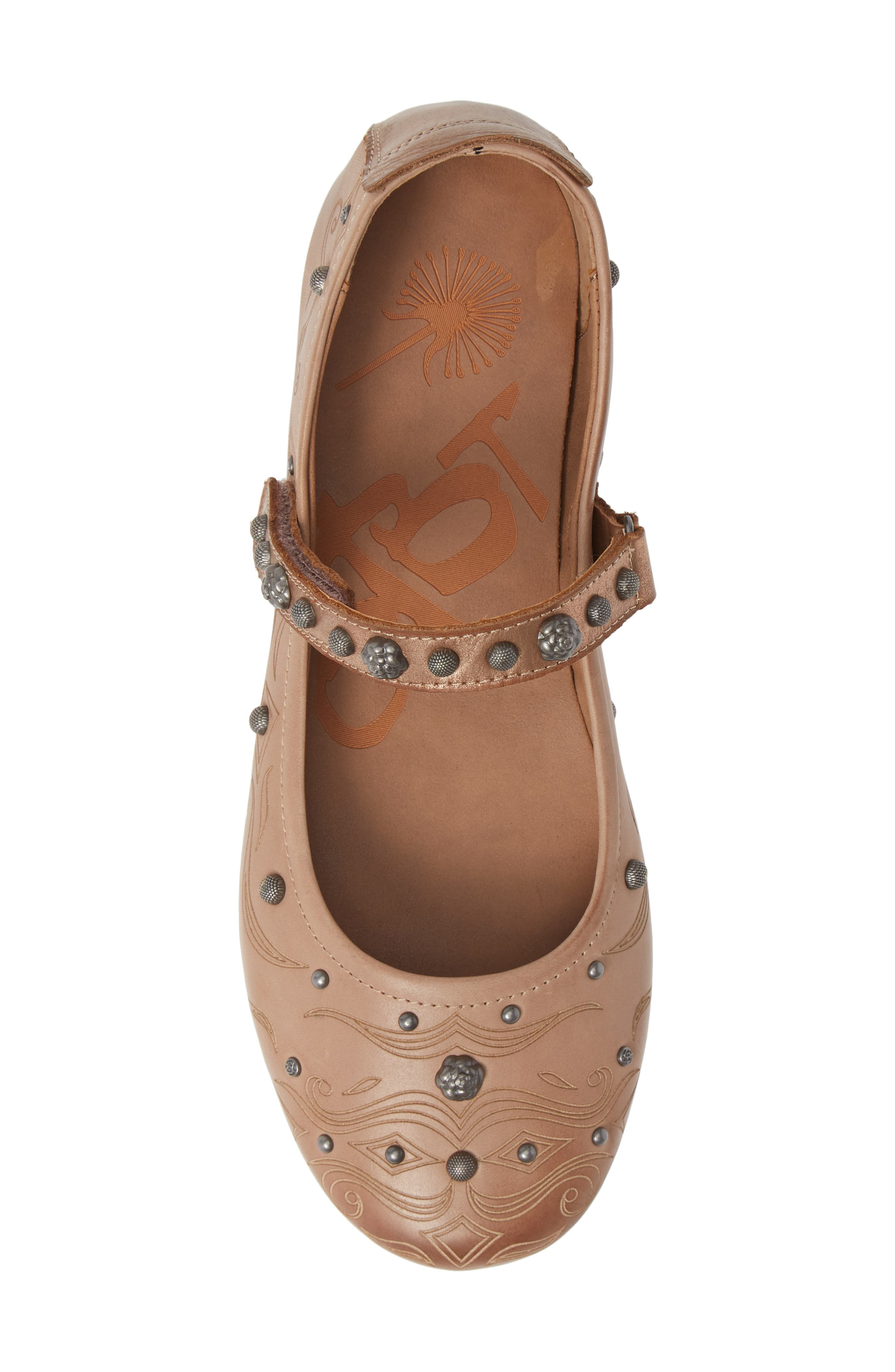 Gamine 2 Mary Jane Flat,                             Alternate thumbnail 5, color,                             WARM PINK LEATHER